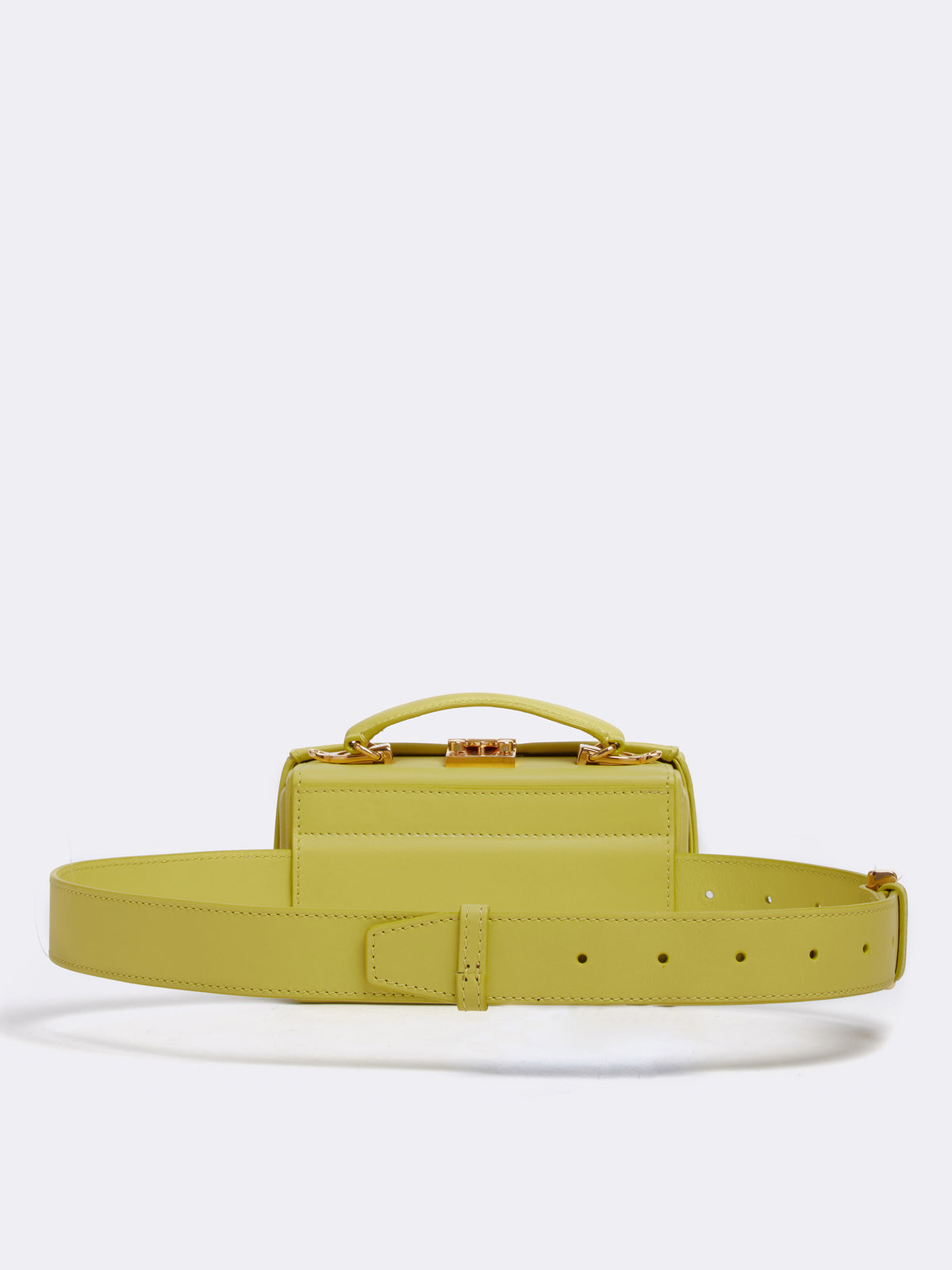 Mark Cross Grace Leather Belt Bag Soft Calf Citron Back