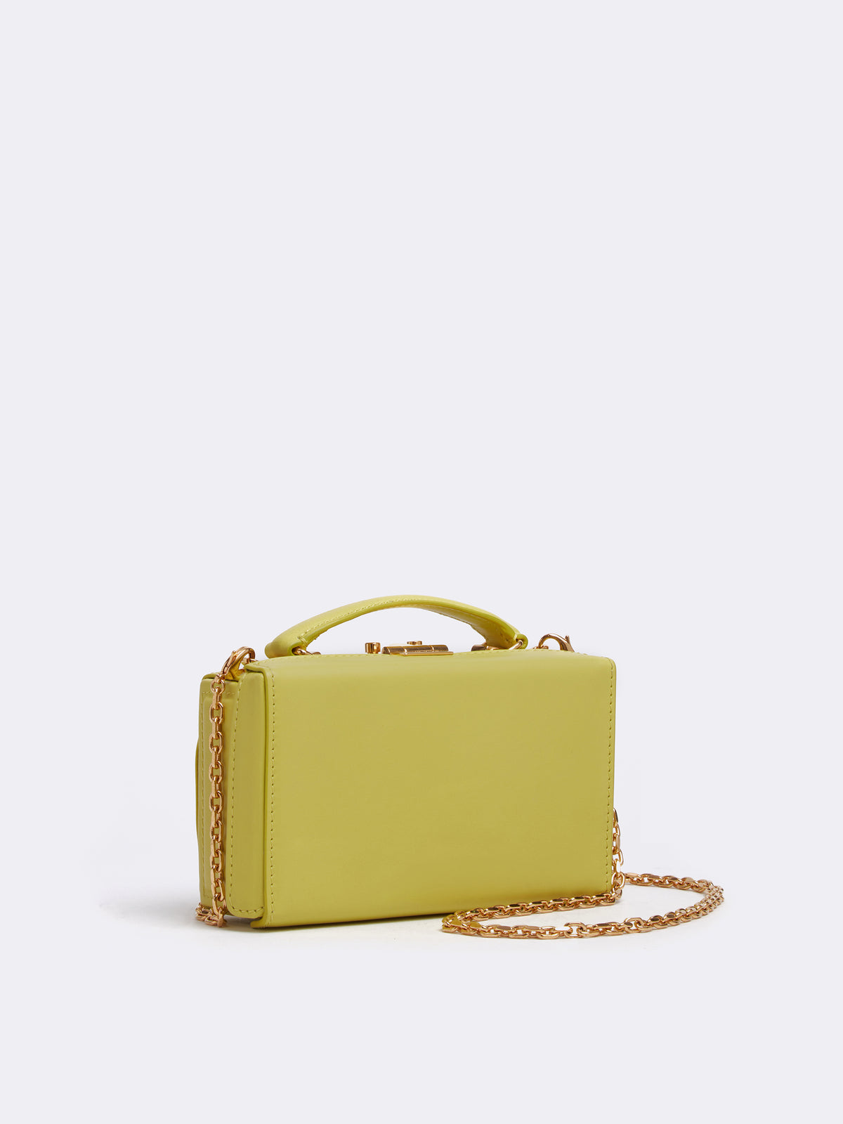 Mark Cross Grace Leather Belt Bag Soft Calf Citron Side
