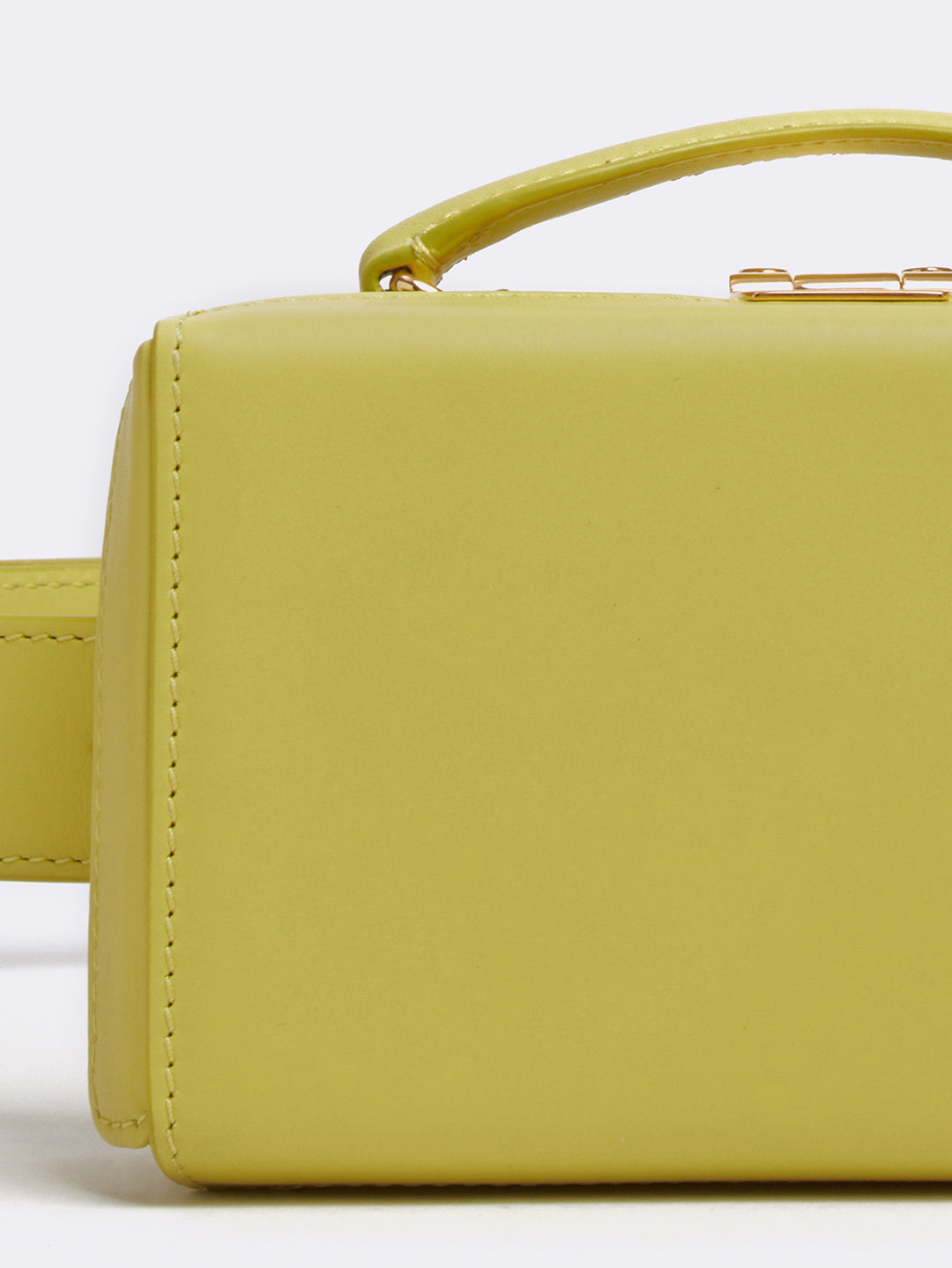 Mark Cross Grace Leather Belt Bag Soft Calf Citron Detail