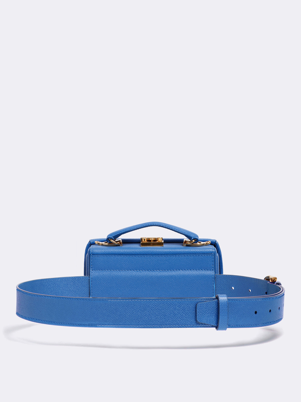 Mark Cross Grace Leather Belt Bag Soft Saffiano Regatta Blue Back
