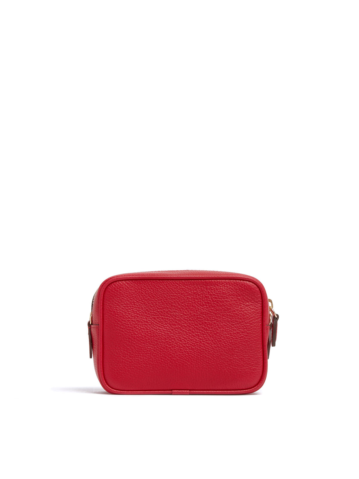 Mark Cross Leather Zip Pouch Soft Calf Mc Red Back