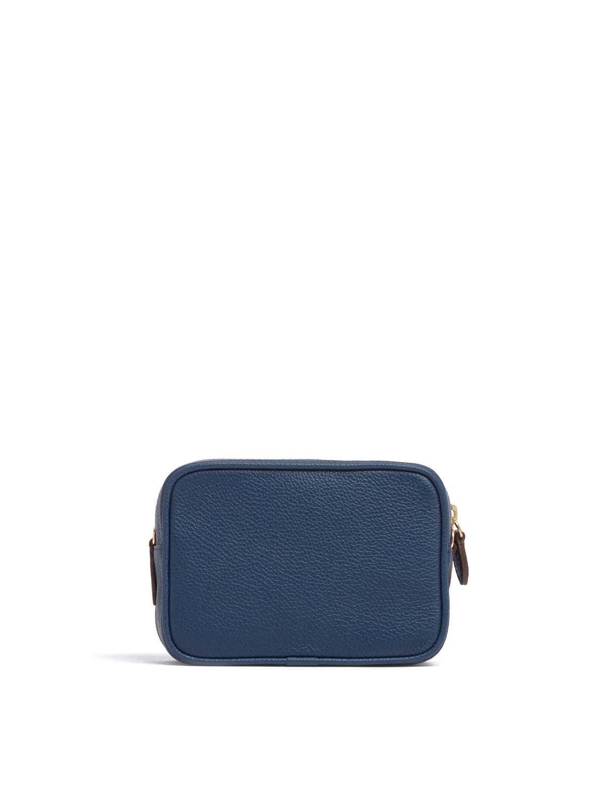 Mark Cross Leather Zip Pouch Soft Calf Navy Back