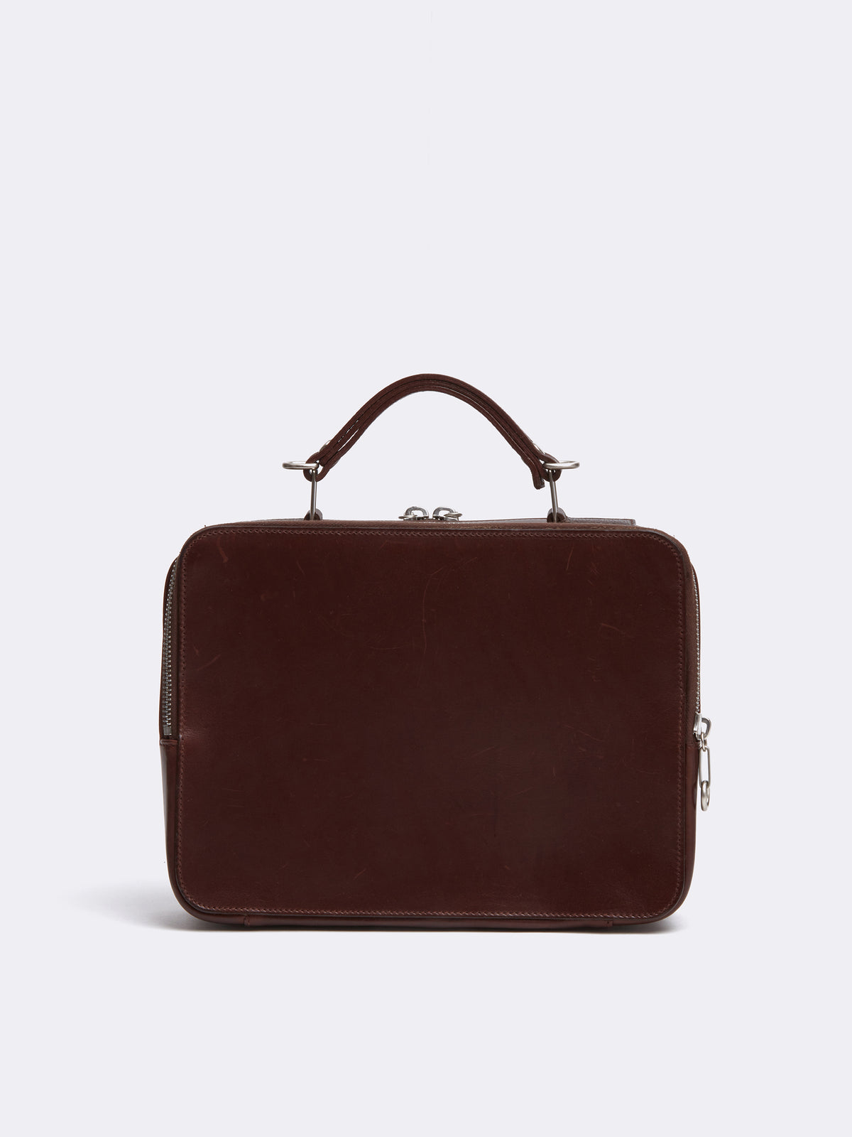 Mark Cross Archive Laura Leather Crossbody Bag Chocolate Back