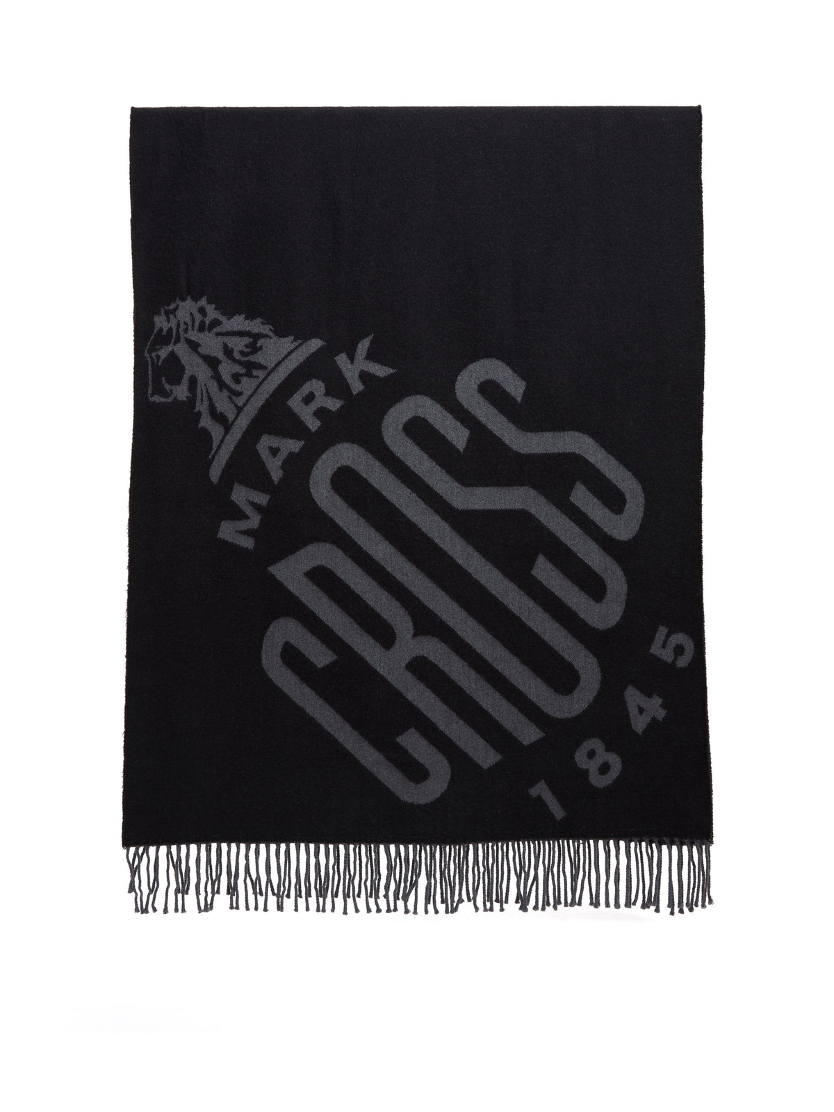 Mark Cross Hanover Wool Scarf Black / Charcoal Front