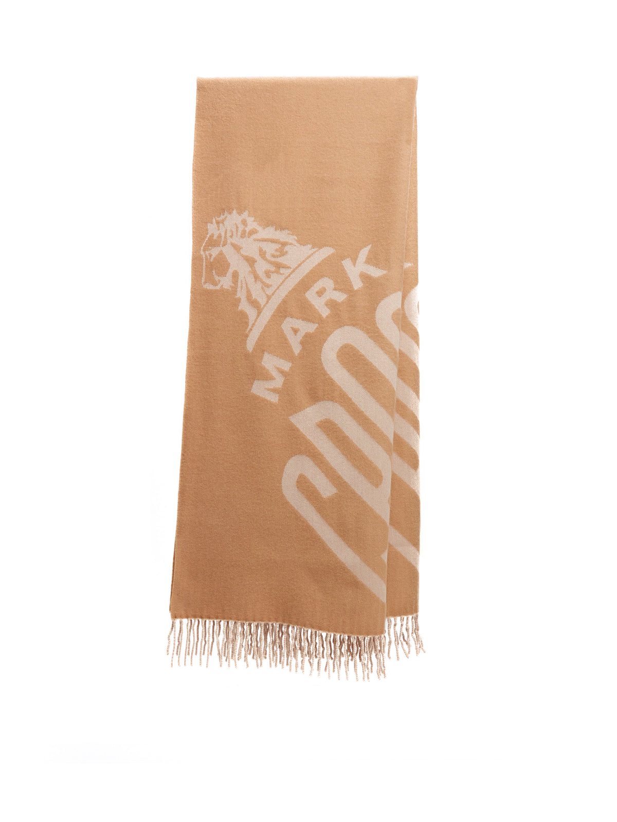 Mark Cross Hanover Wool Scarf Camel / Beige Front