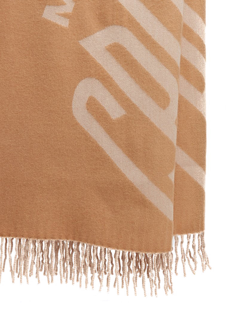 Mark Cross Hanover Wool Scarf Camel / Beige Detail
