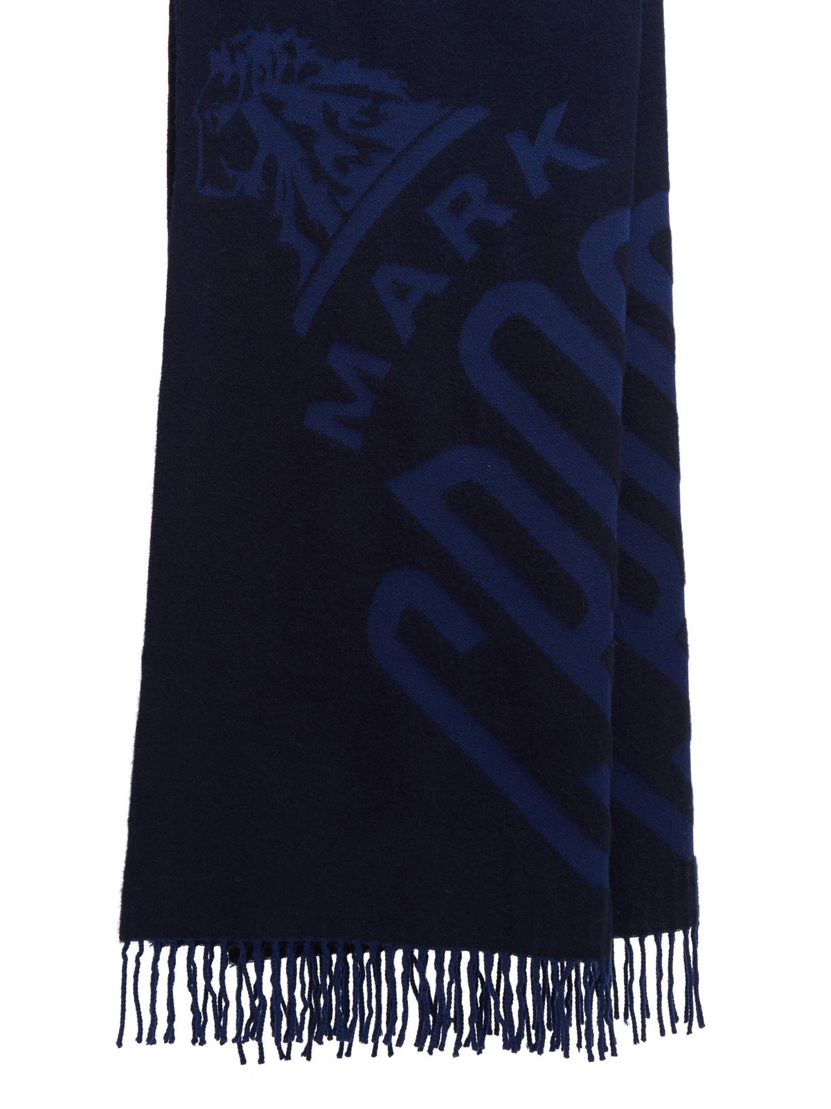 Mark Cross Hanover Wool Scarf Navy / Bright Blue Front