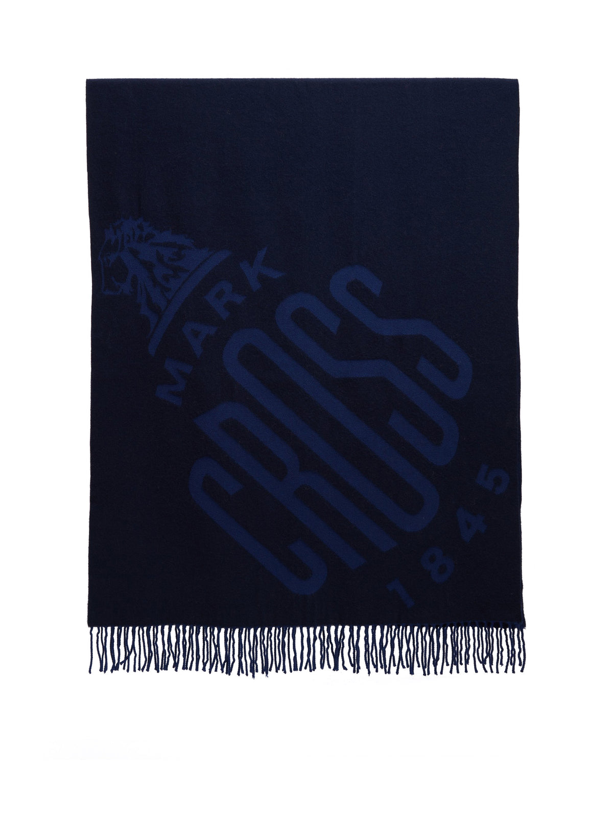 Mark Cross Hanover Wool Scarf Navy / Bright Blue Side