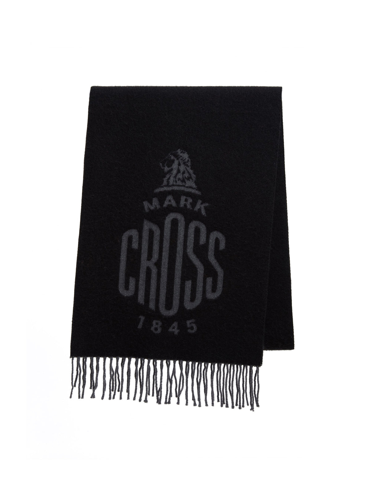 Mark Cross Beacon Wool Scarf Black / Charcoal Front
