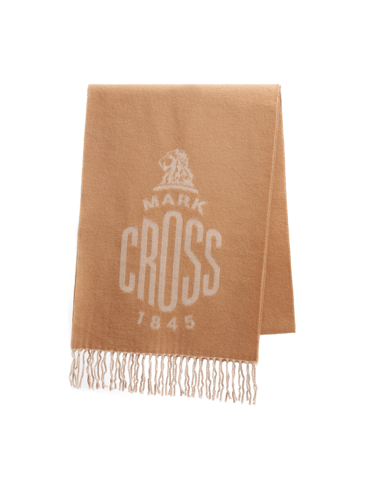 Mark Cross Beacon Wool Scarf Camel / Beige Front