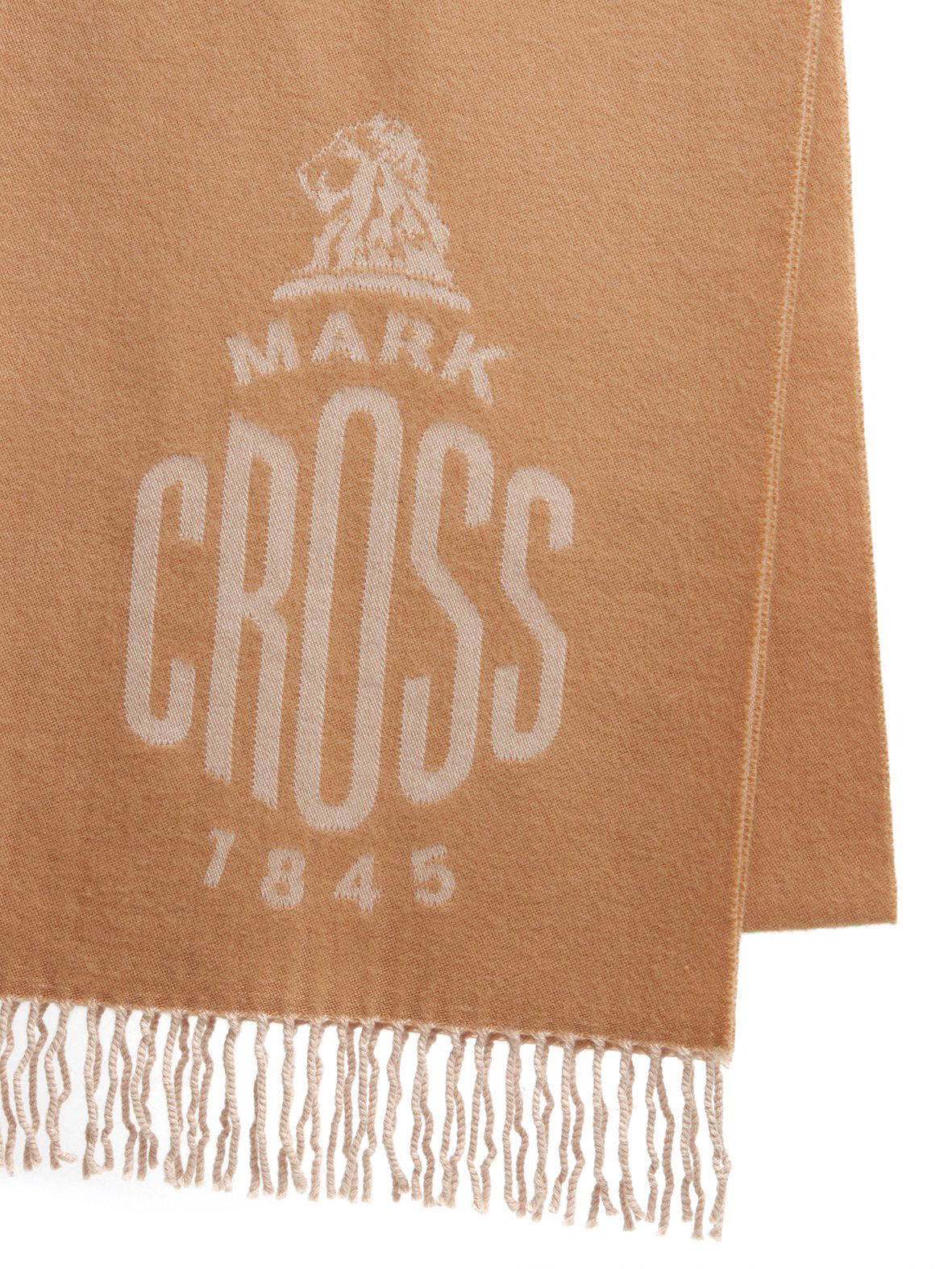 Mark Cross Beacon Wool Scarf Camel / Beige Side