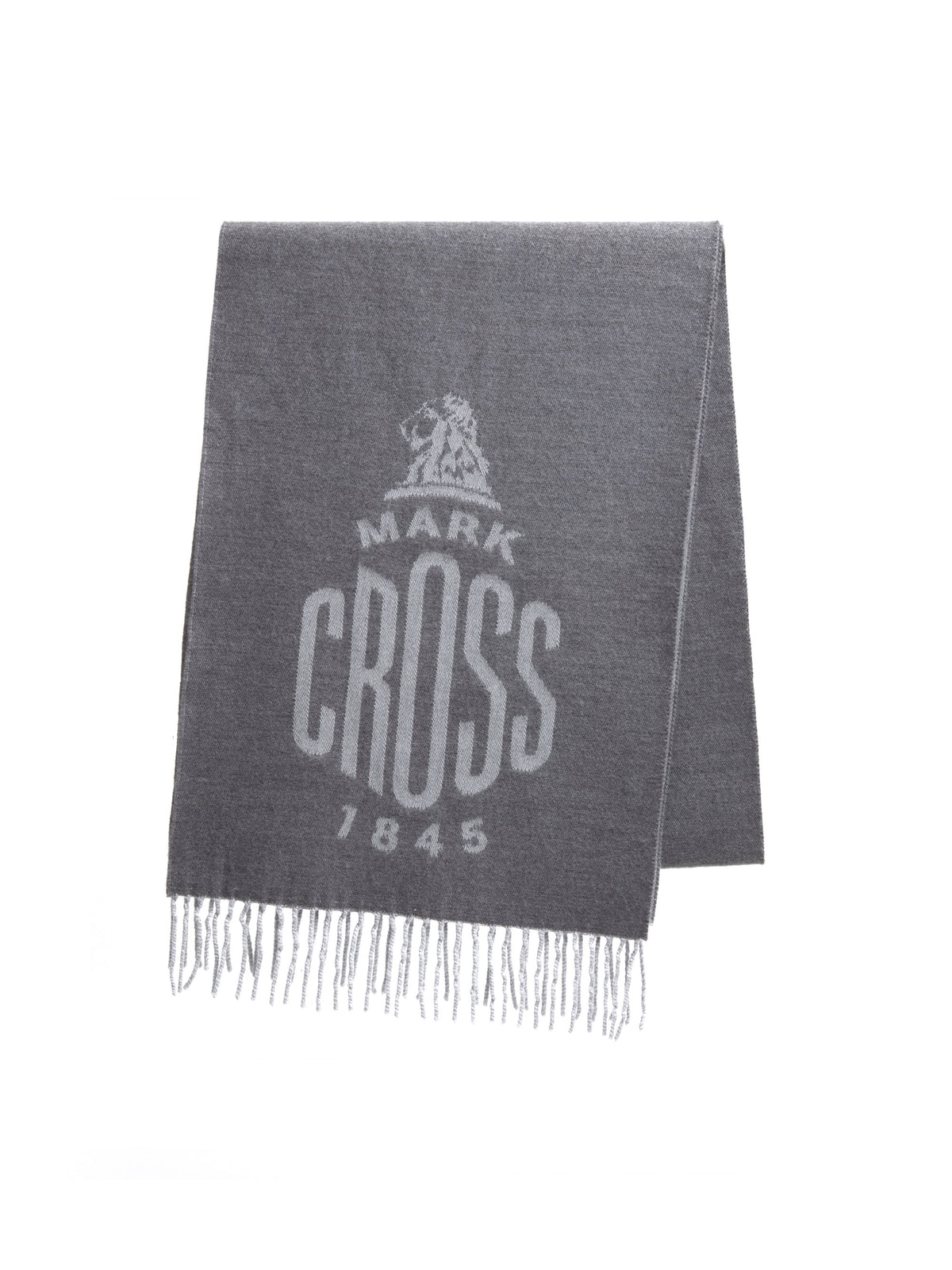 Mark Cross Beacon Wool Scarf Grey / Light Grey Front