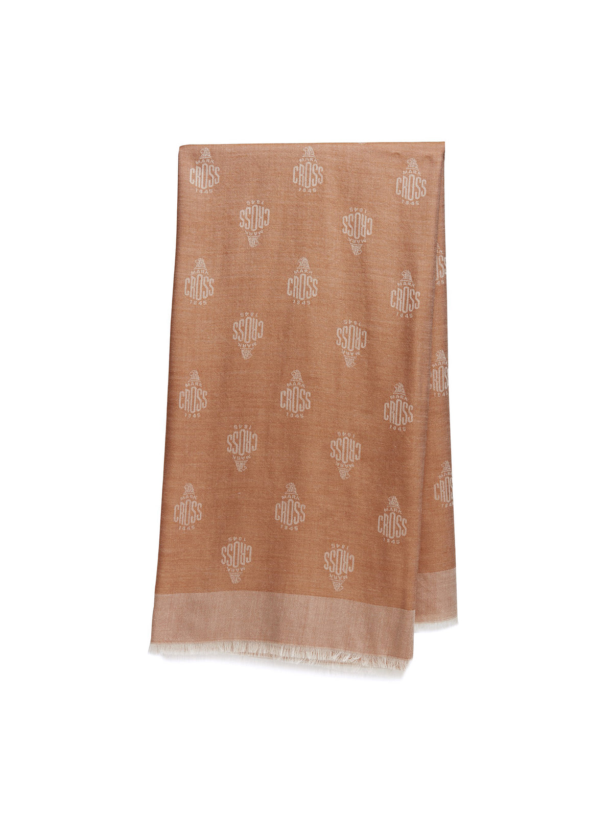 Mark Cross Meadow Cashmere Blend Scarf Beige / Ivory Front