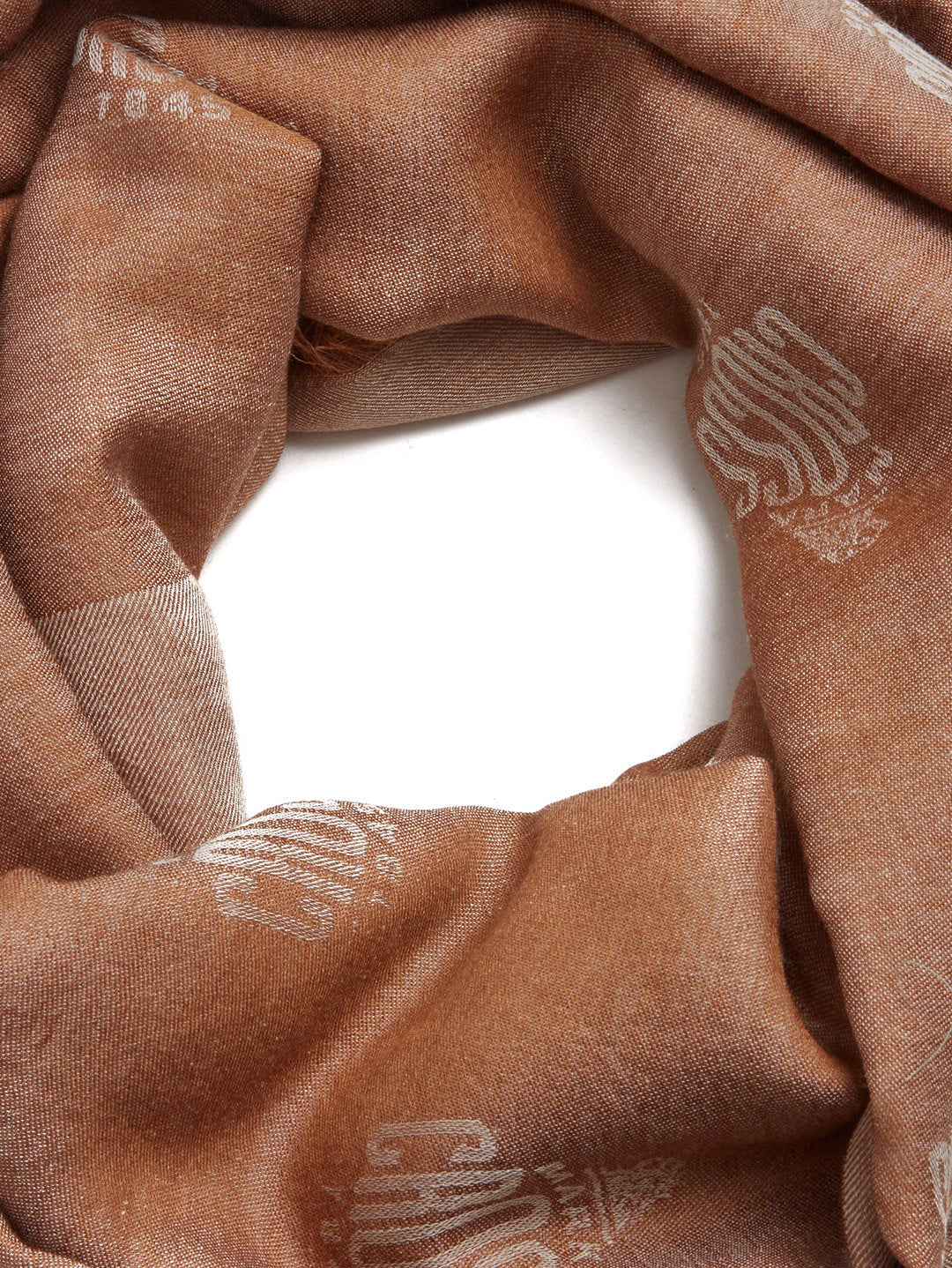 Mark Cross Meadow Cashmere Blend Scarf Beige / Ivory Side