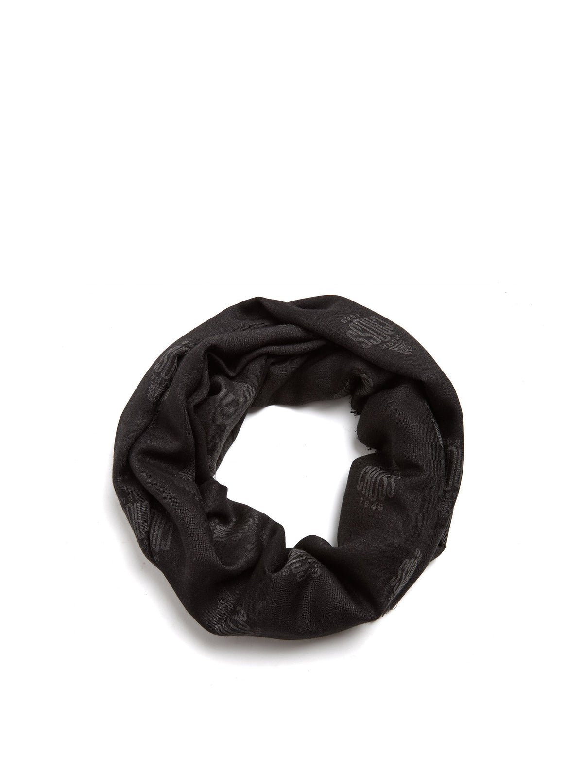 Mark Cross Meadow Cashmere Blend Scarf Black / Charcoal Front
