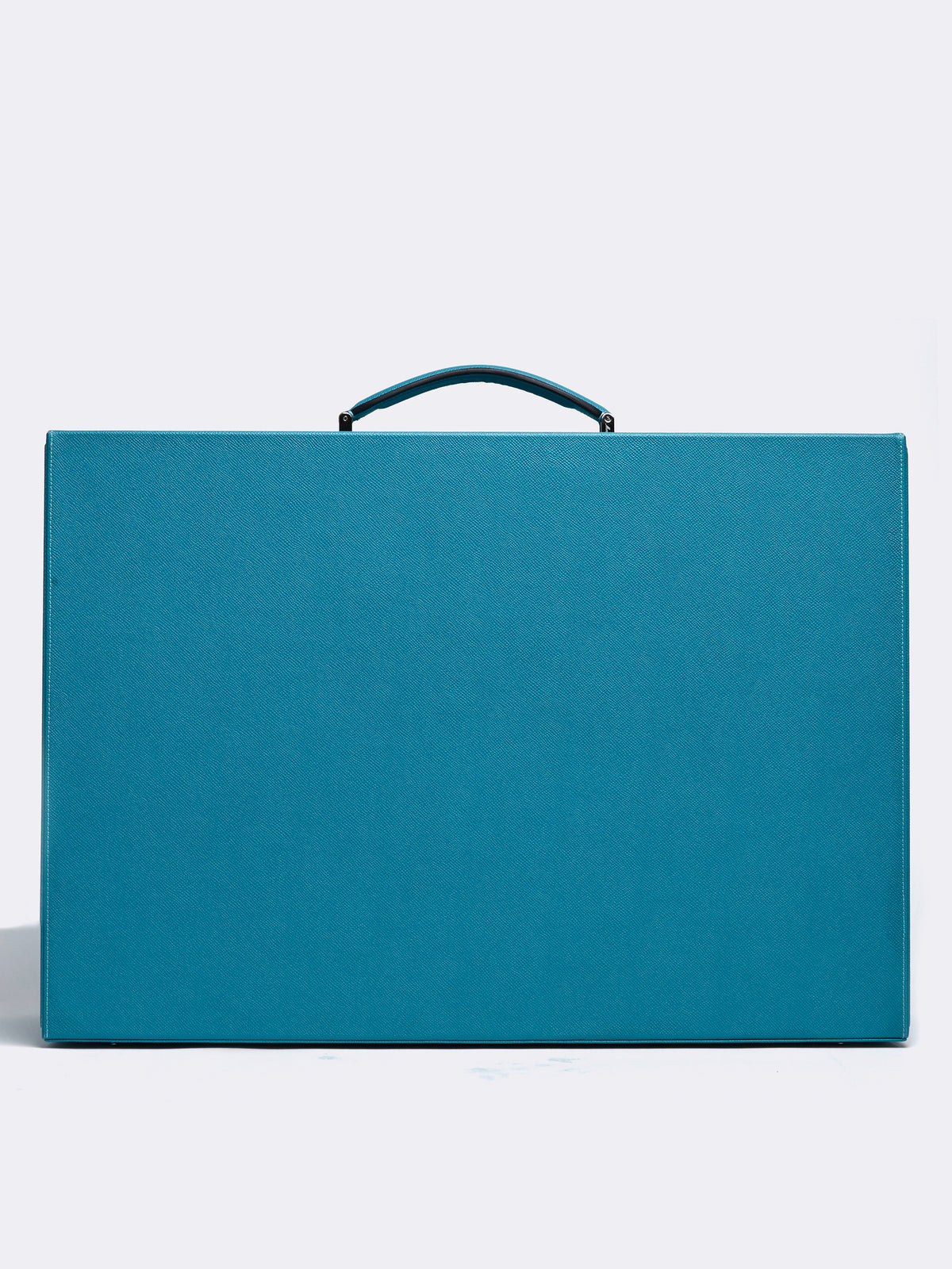 Mark Cross Grace Large Leather Trunk Saffiano Turquoise Back