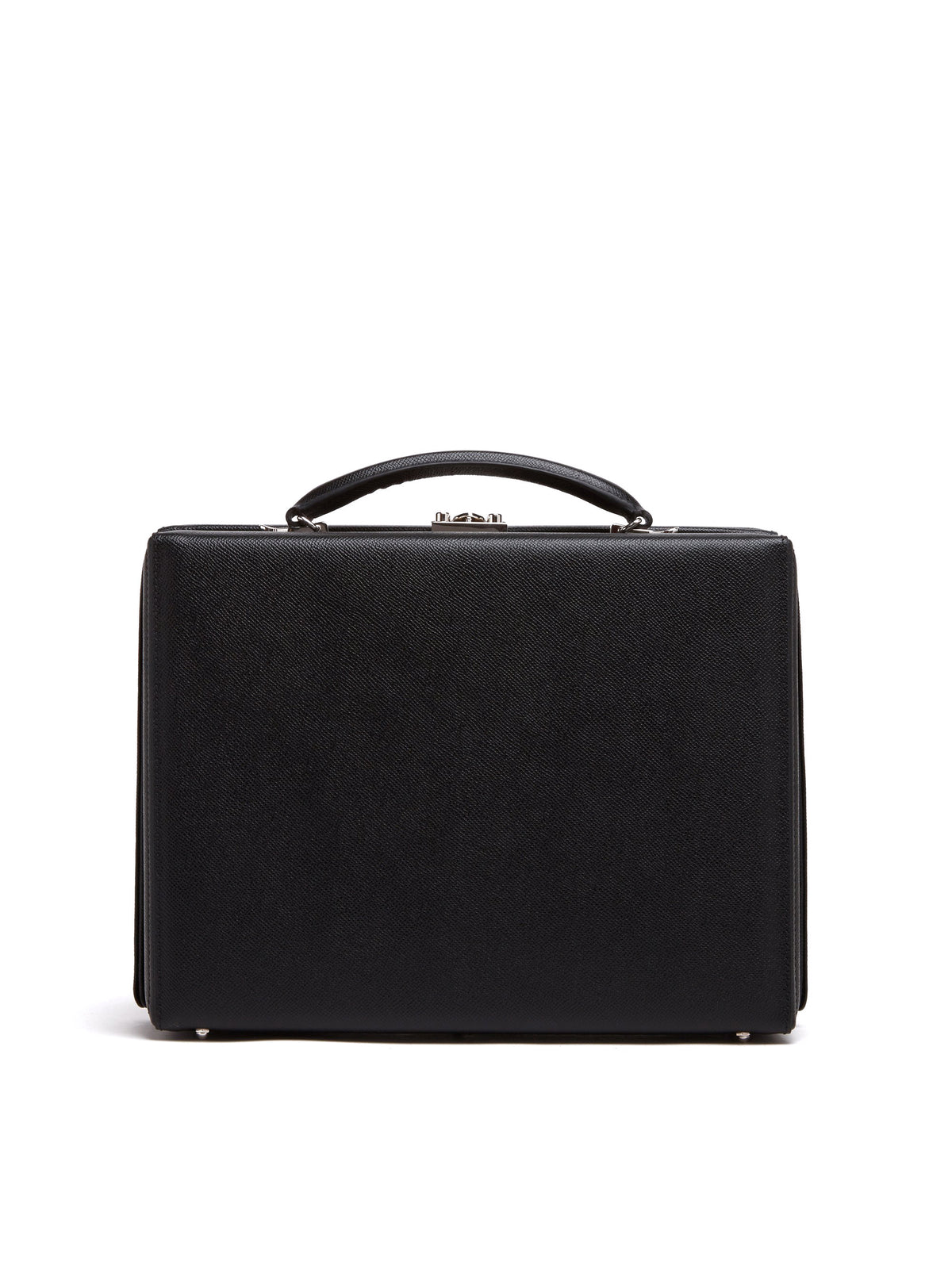 Mark Cross Grace Small Leather Briefcase Saffiano Black Back