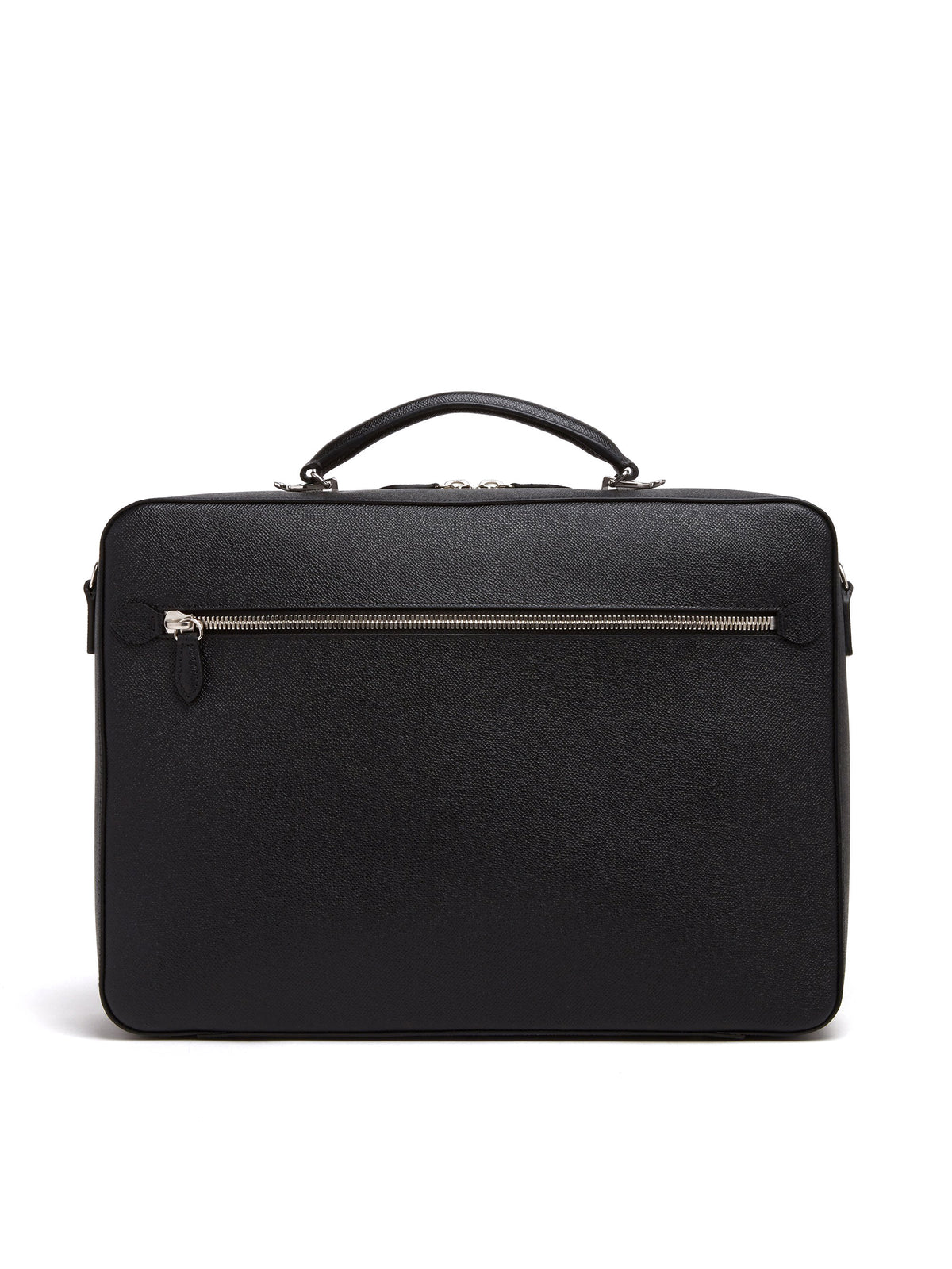 Mark Cross Baker Leather Briefcase Saffiano Black Back