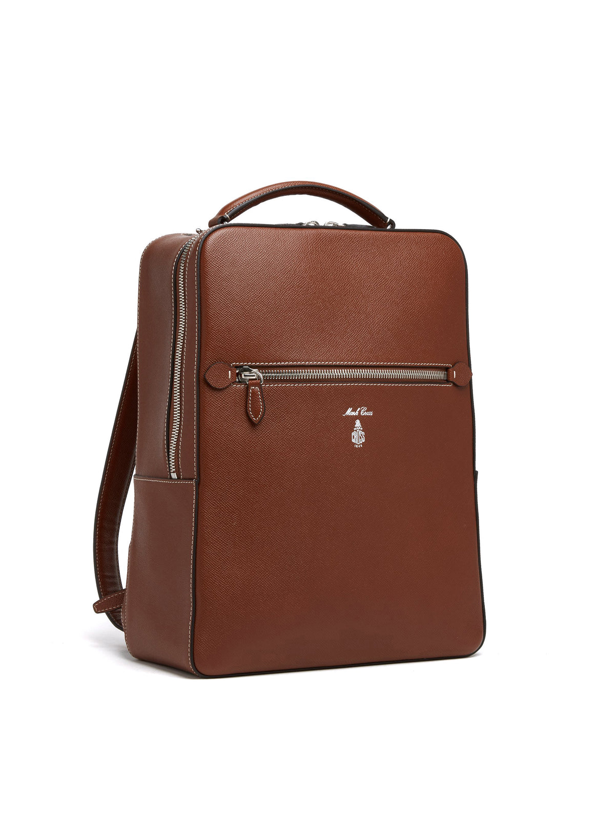 Mark Cross Alexander Leather Backpack Saffiano Acorn Side