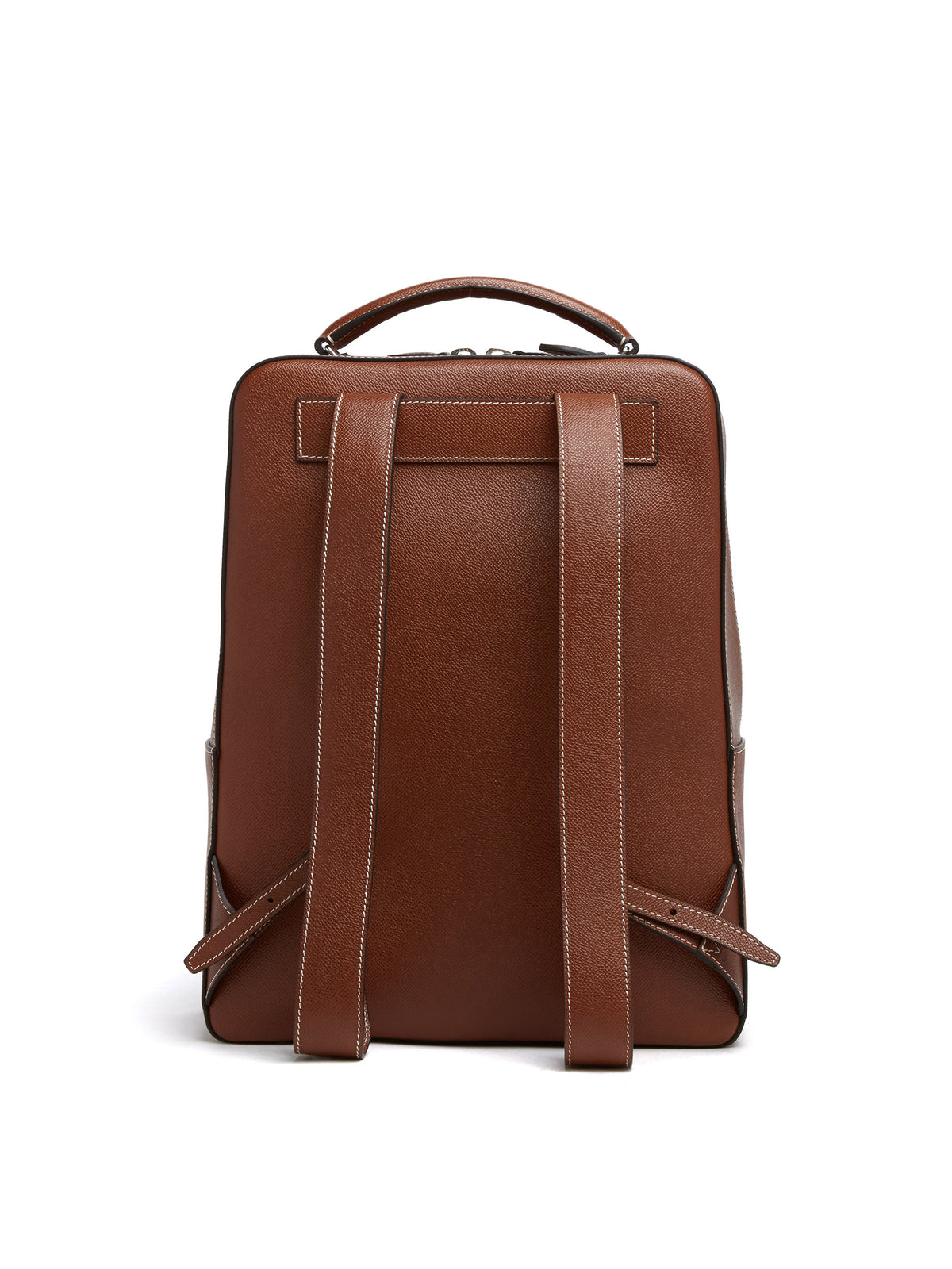 Mark Cross Alexander Leather Backpack Saffiano Acorn Back