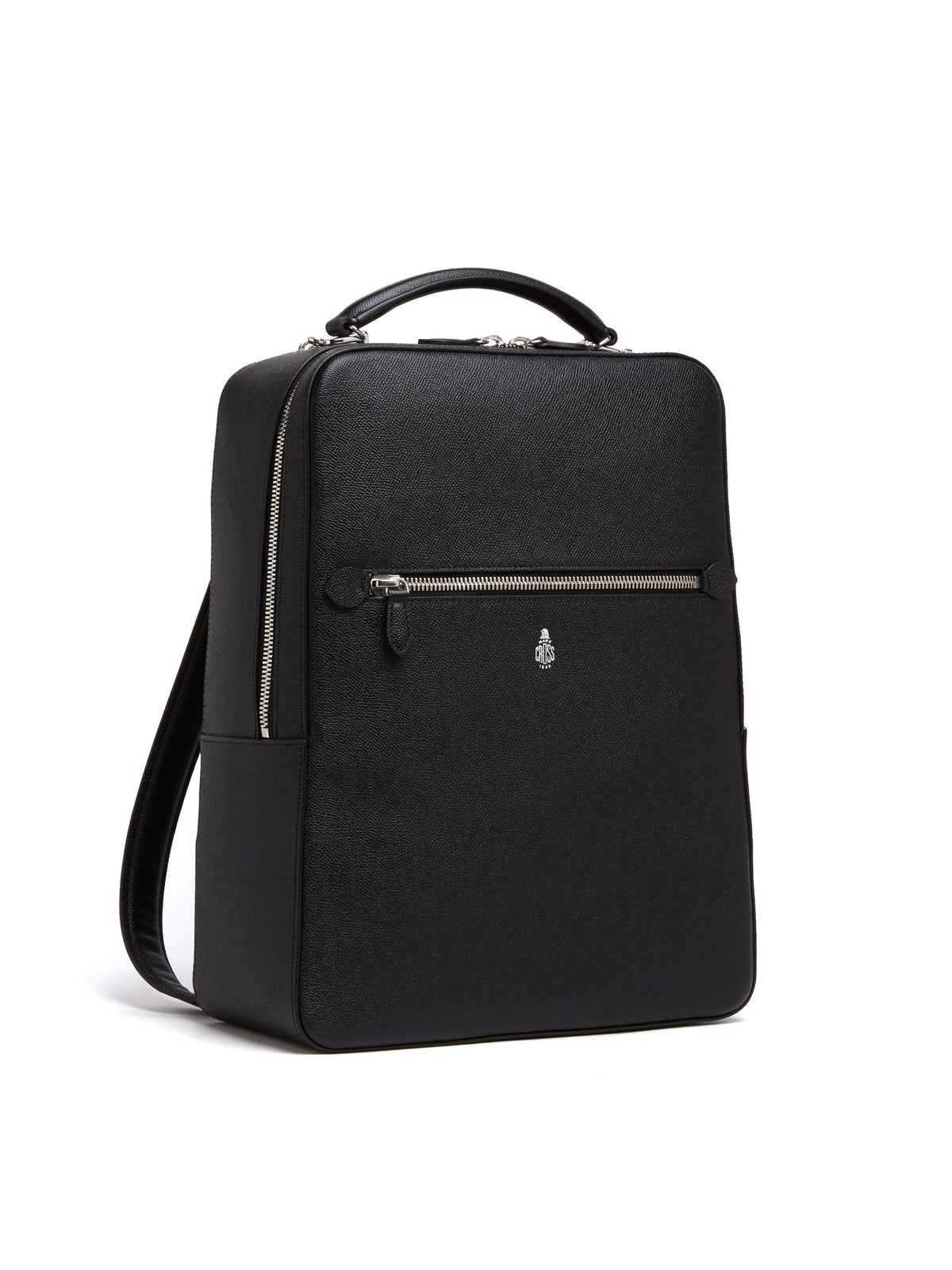 Mark Cross Alexander Leather Backpack Saffiano Black Side