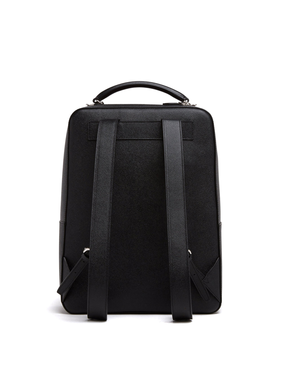 Mark Cross Alexander Leather Backpack Saffiano Black Back