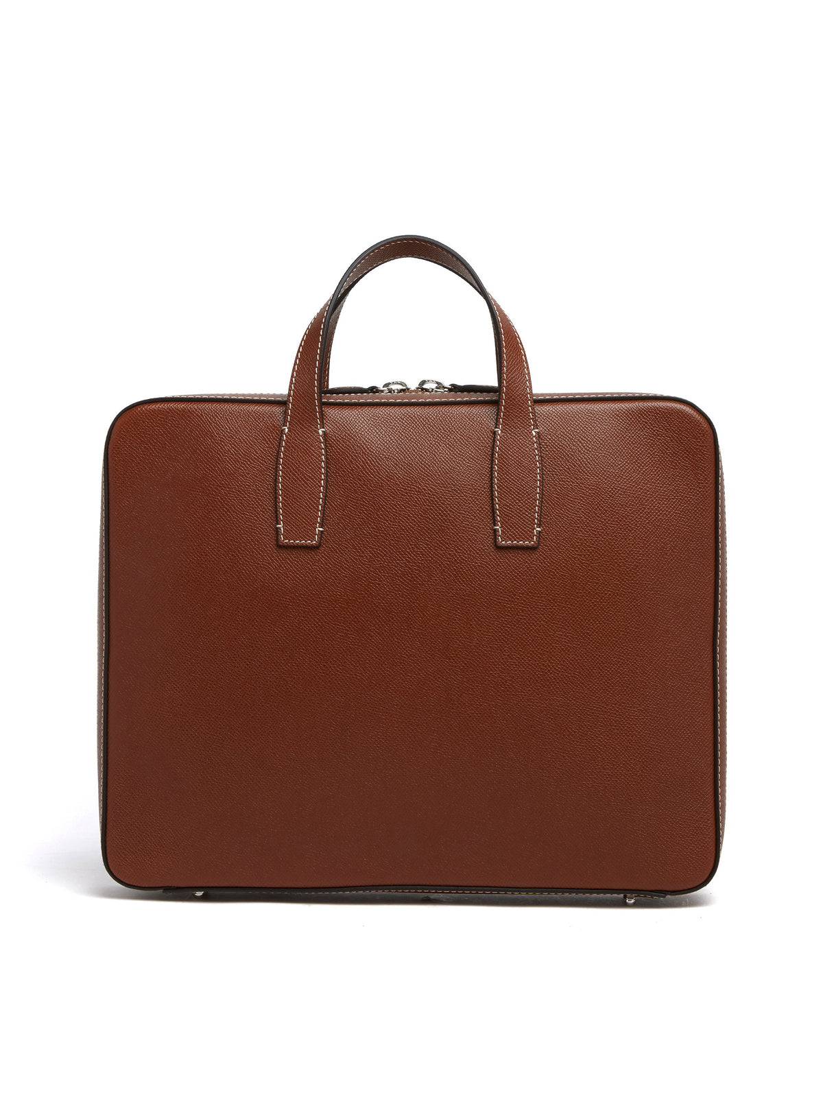 Mark Cross Parker Leather Briefcase Saffiano Acorn Back