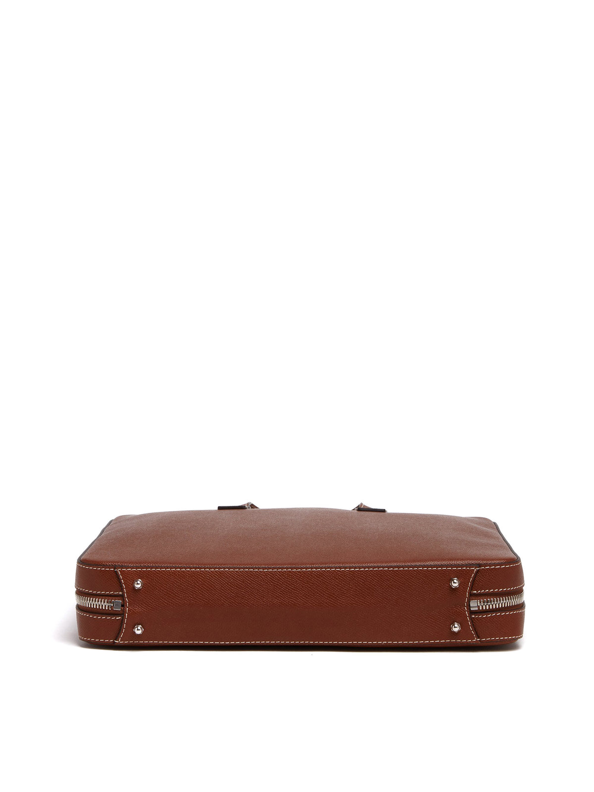 Mark Cross Parker Leather Briefcase Saffiano Acorn Side