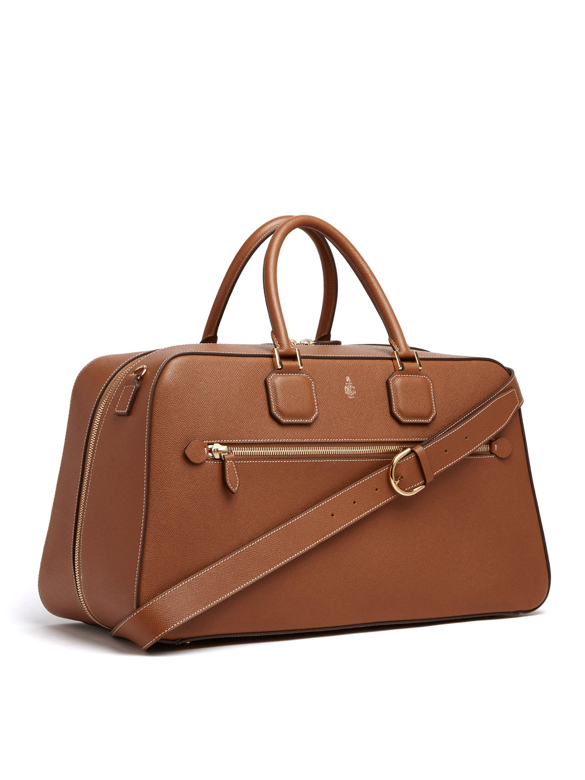 Mark Cross Cole Leather Duffle Bag Saffiano Luggage Side