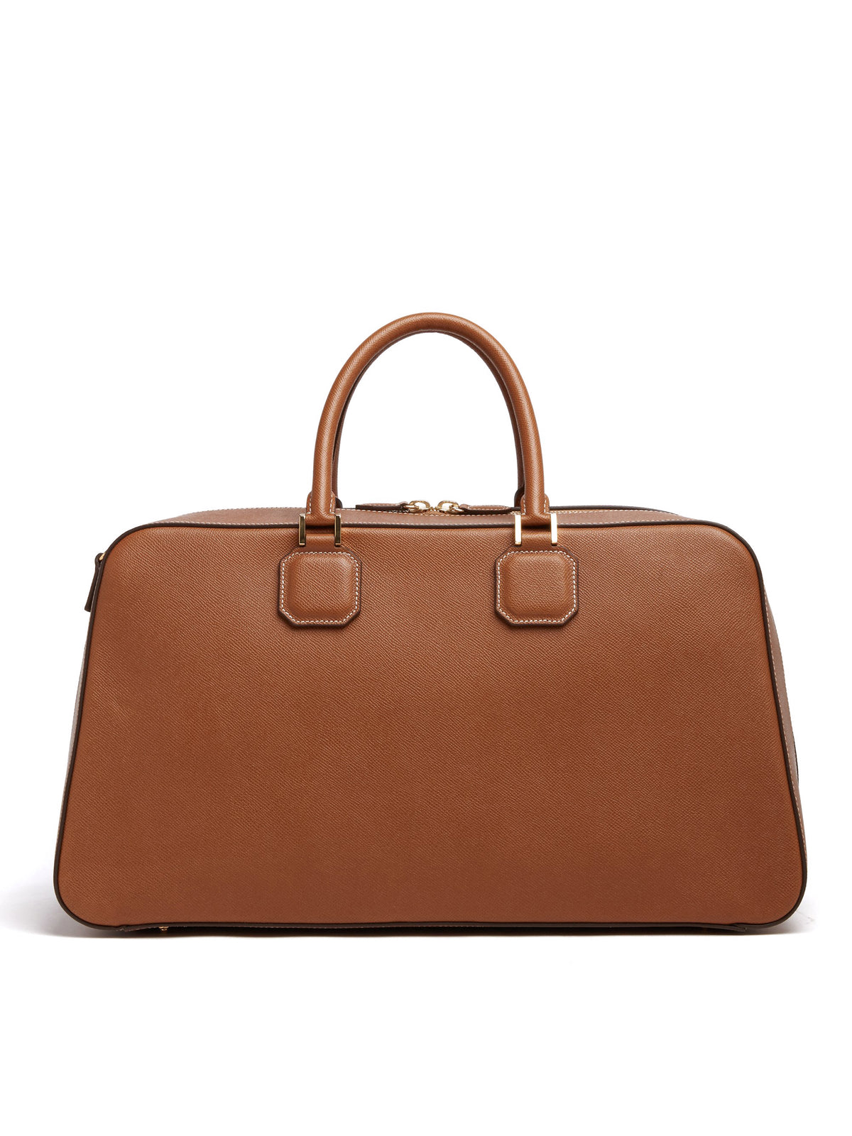 Mark Cross Cole Leather Duffle Bag Saffiano Luggage Back