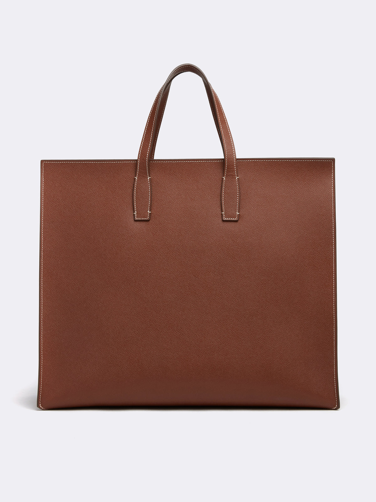Mark Cross Fitzgerald East West Leather Tote Saffiano Acorn Back