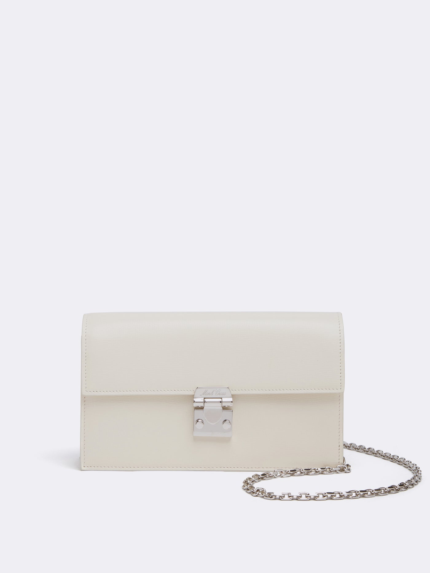 Mark Cross Jacqueline Leather Crossbody Bag Mini Franzi Winter White Front