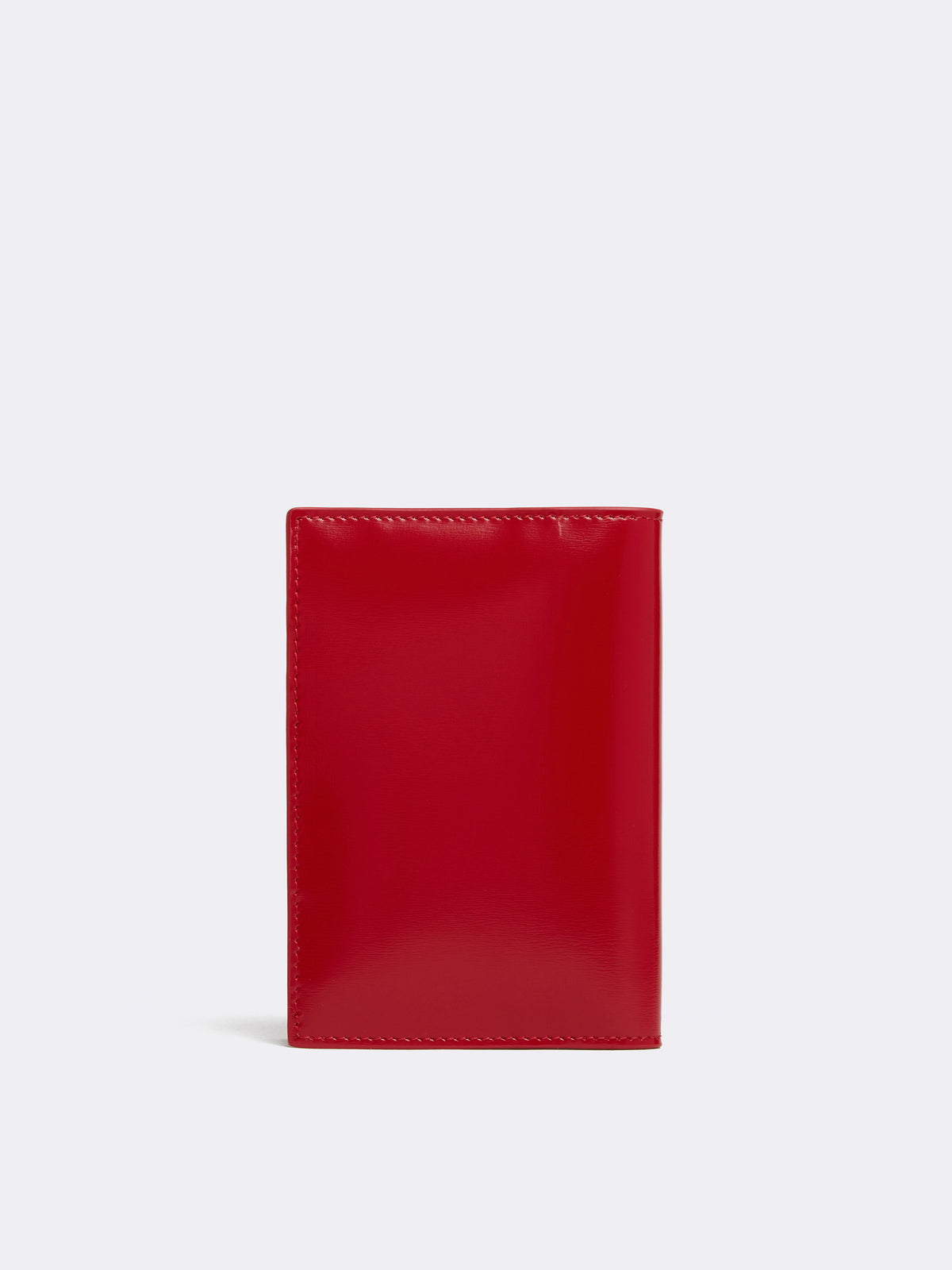 Mark Cross Leather Passport Cover Brush Off Mc Red Back