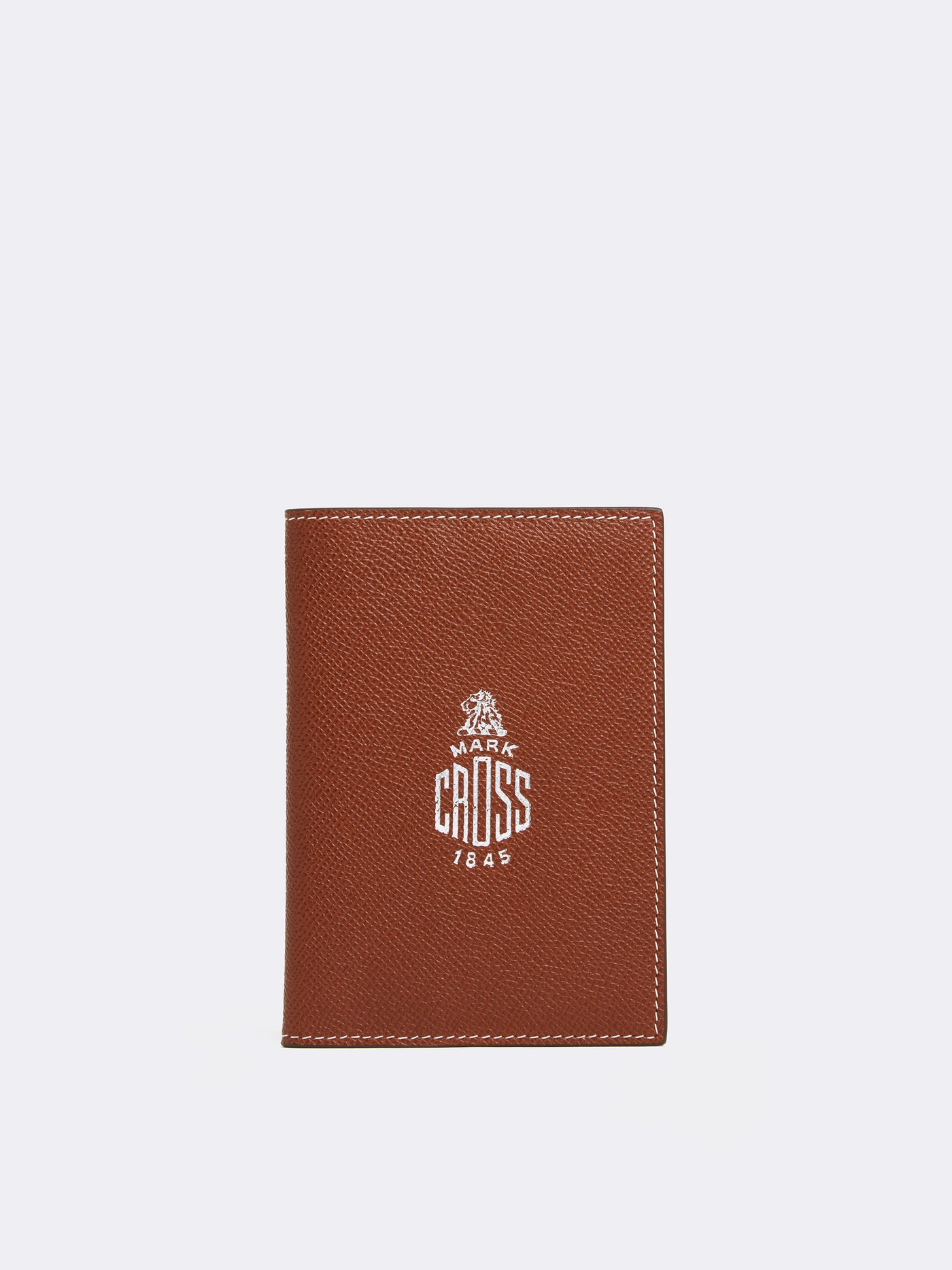 Mark Cross Leather Passport Cover Saffiano Acorn Front