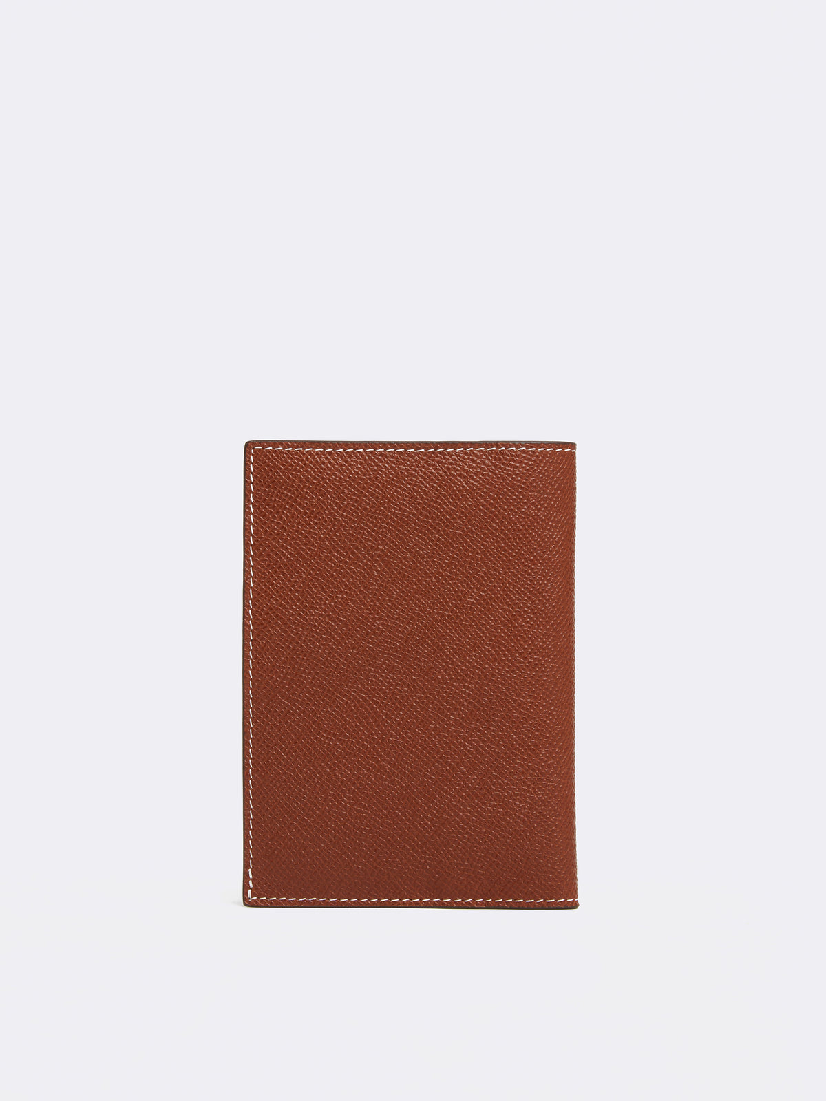 Mark Cross Leather Passport Cover Saffiano Acorn Interior