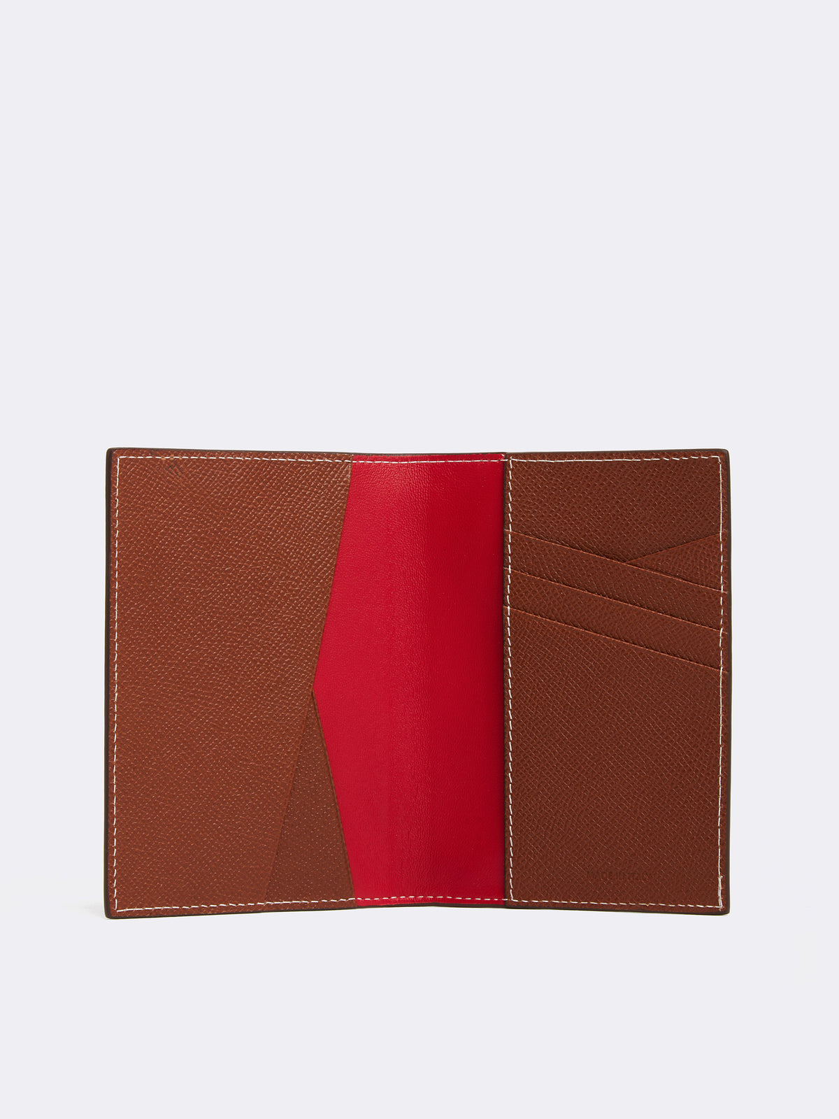 Mark Cross Leather Passport Cover Saffiano Acorn Back