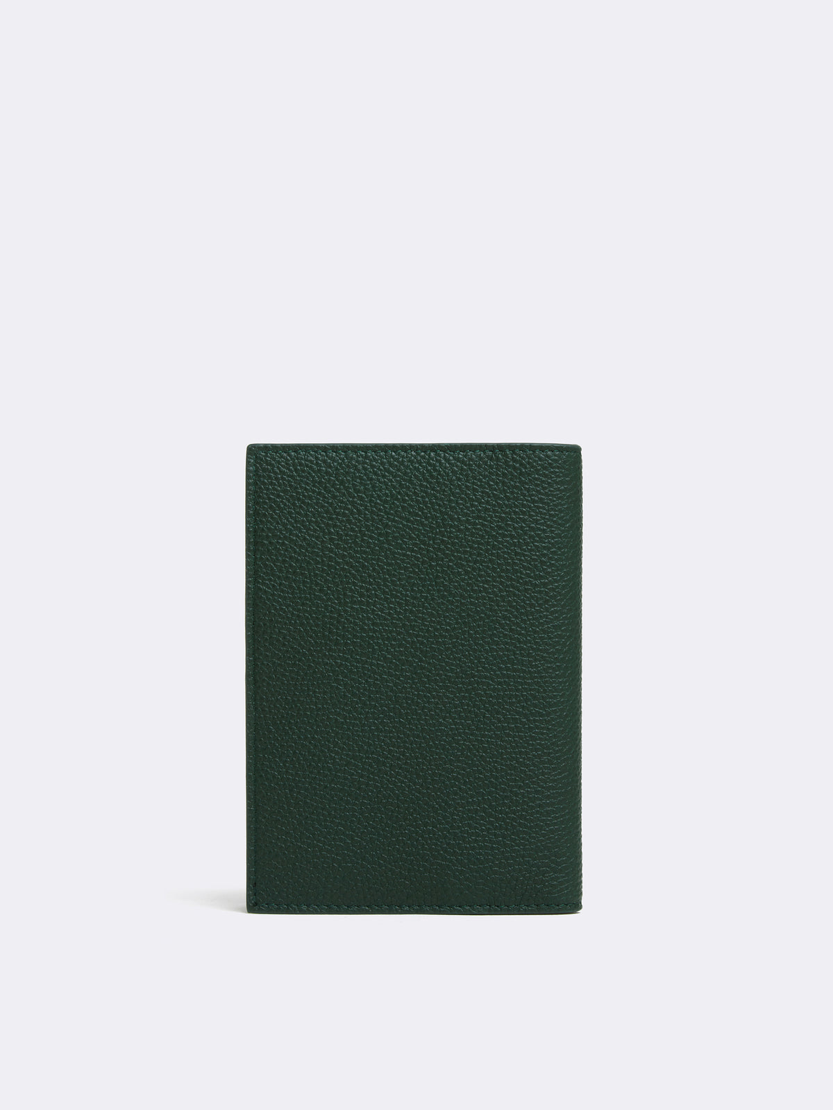 Mark Cross Leather Passport Cover Tumbled Grain Evergreen Back