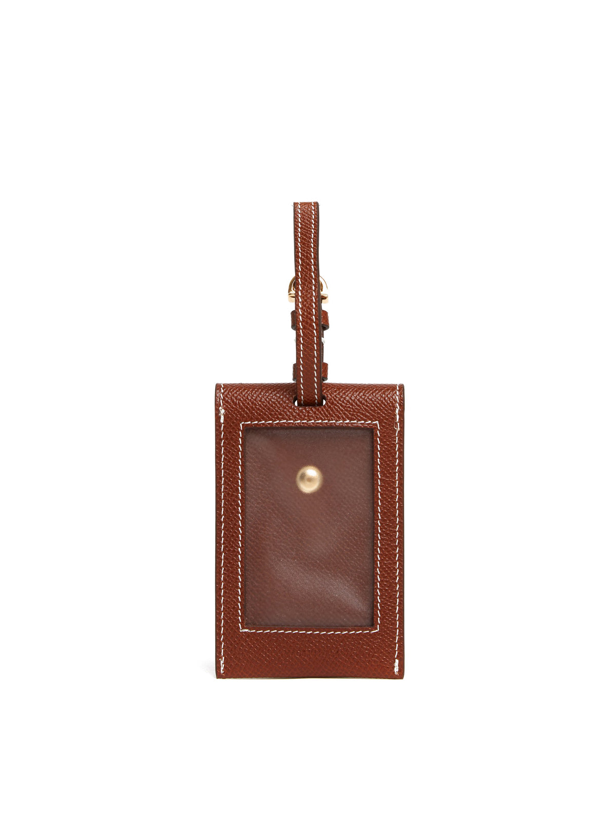Mark Cross Leather Luggage Tag Saffiano Acorn Back