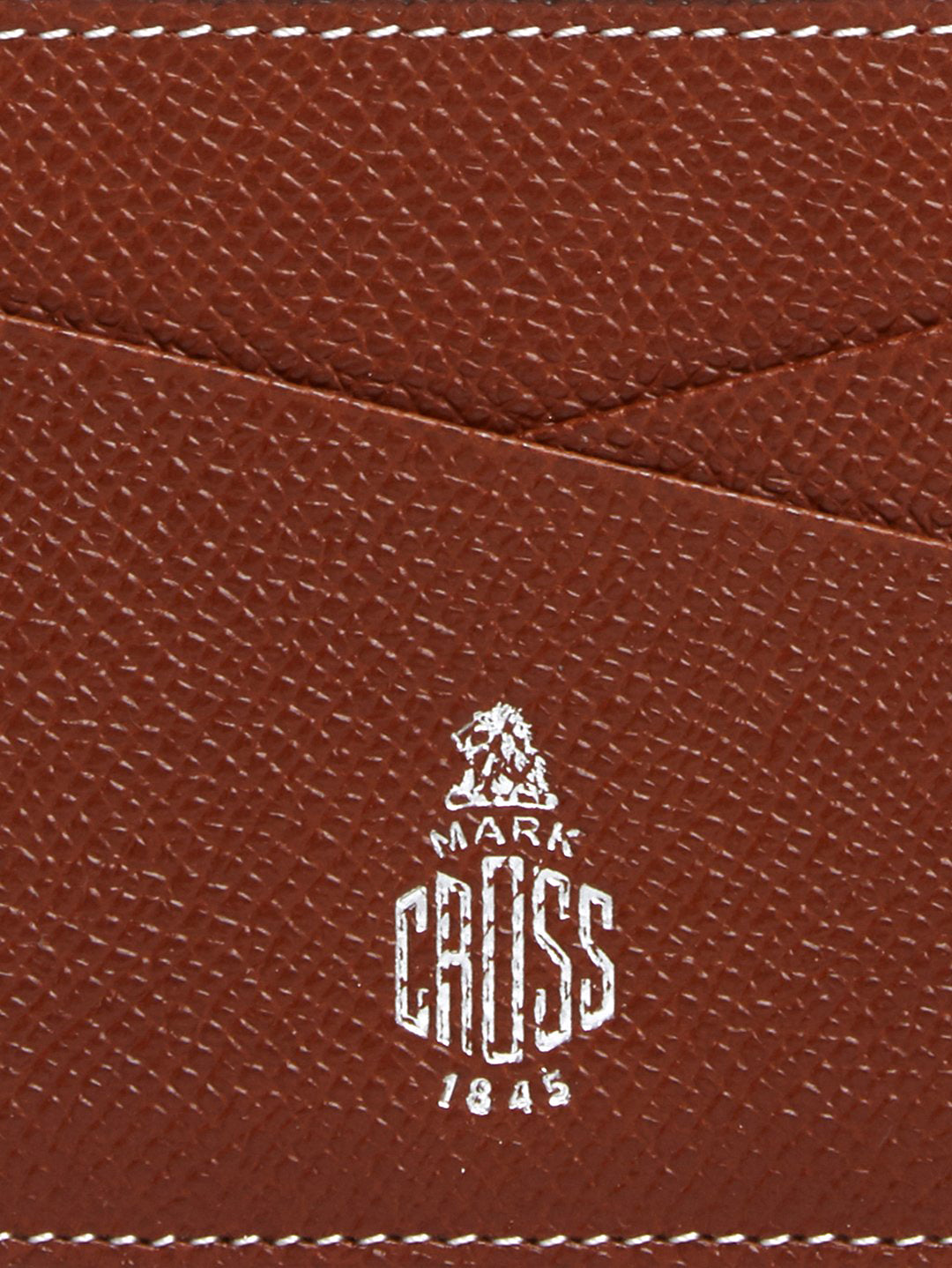 Mark Cross Leather Card Case Saffiano Acorn Detail