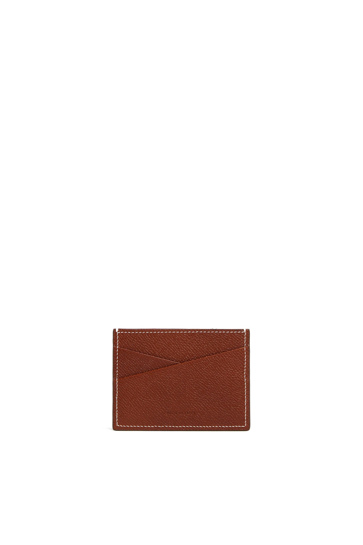 Mark Cross Leather Card Case Saffiano Acorn Back
