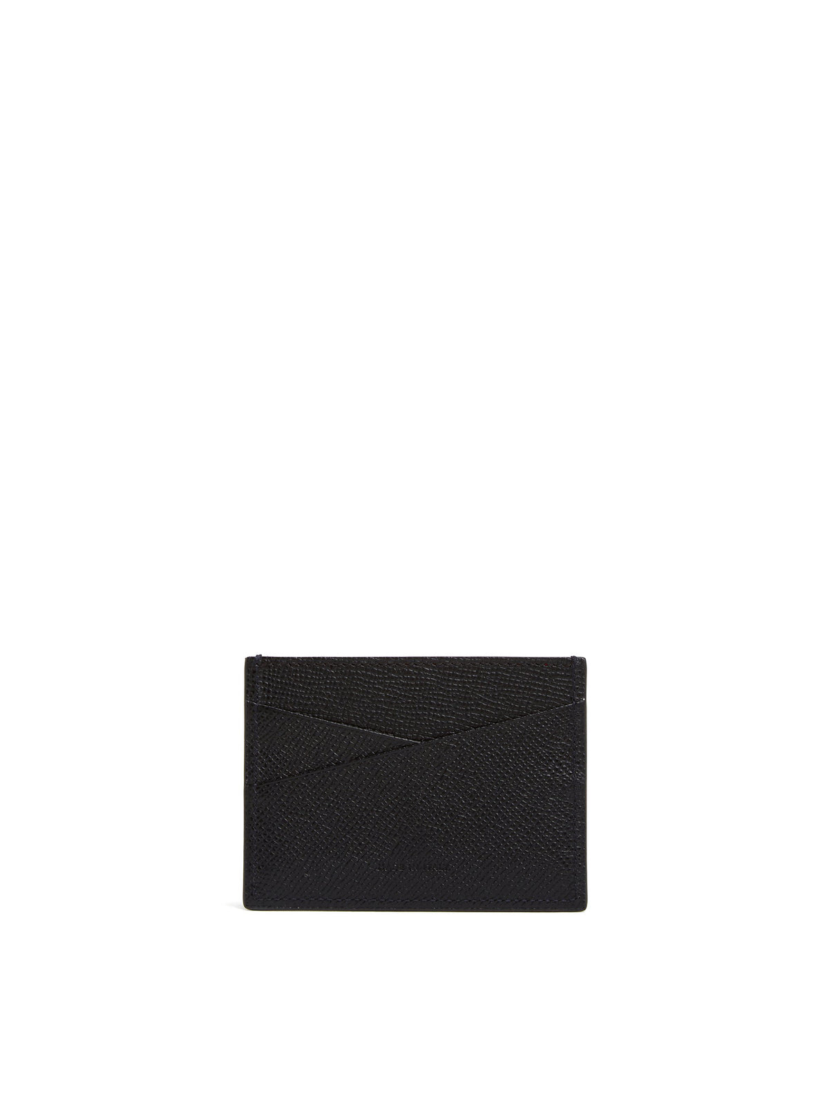 Mark Cross Leather Card Case Saffiano Black Back