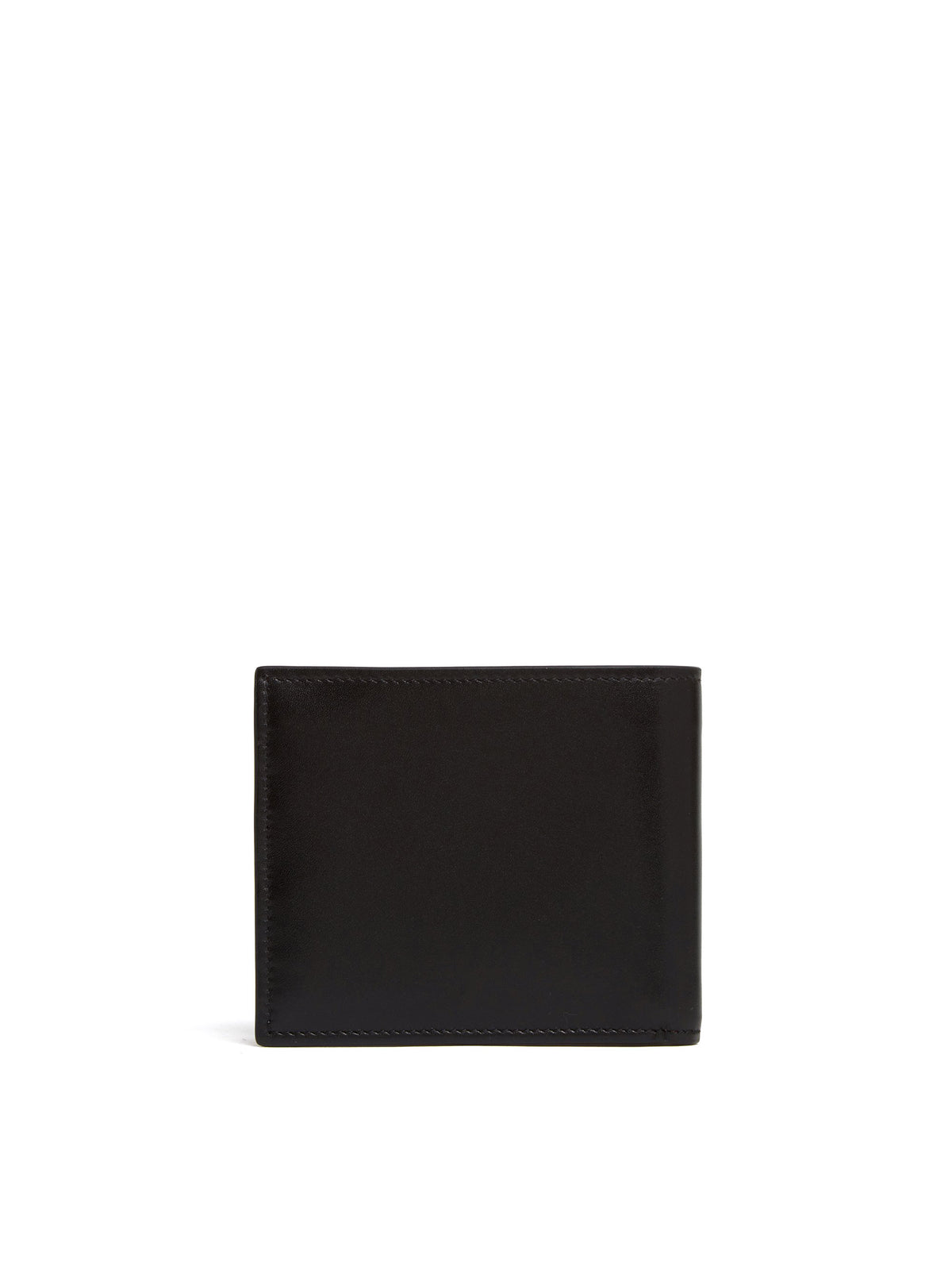 Mark Cross Bi-Fold X Leather Wallet Smooth Calf Black Back