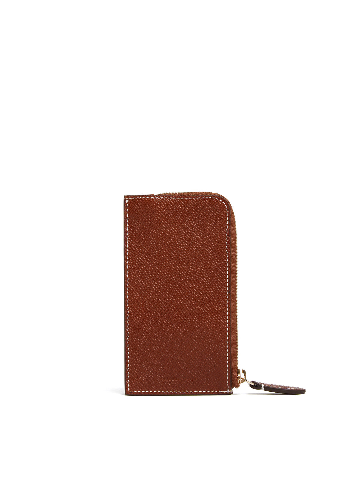 Mark Cross Leather Zip Card Case Saffiano Acorn Back