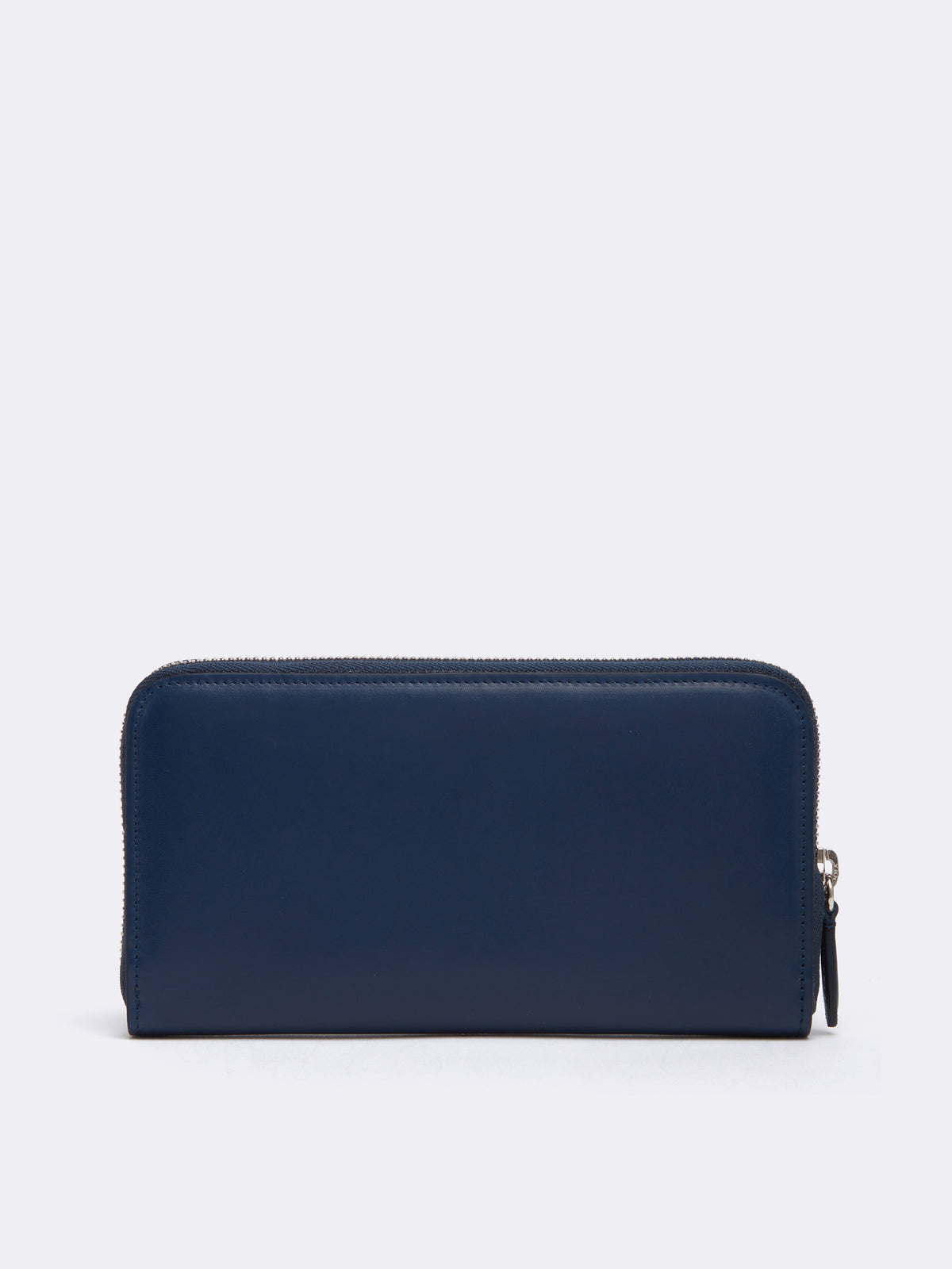 Mark Cross Leather Zip Wallet Seta Box Navy Back