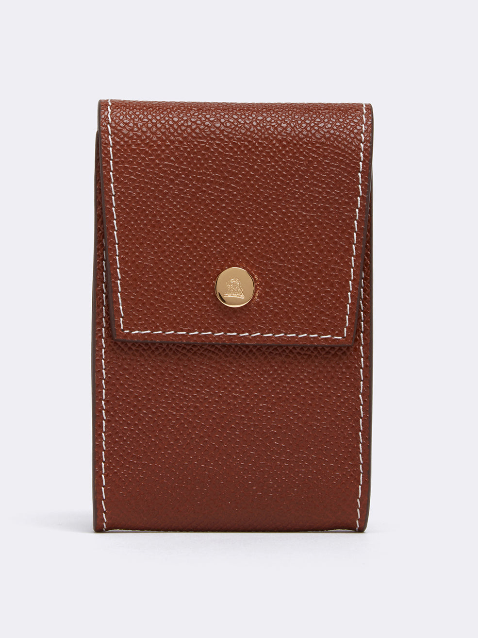Mark Cross Snap Card Case for Grace Belt Bag Saffiano Acorn Detail