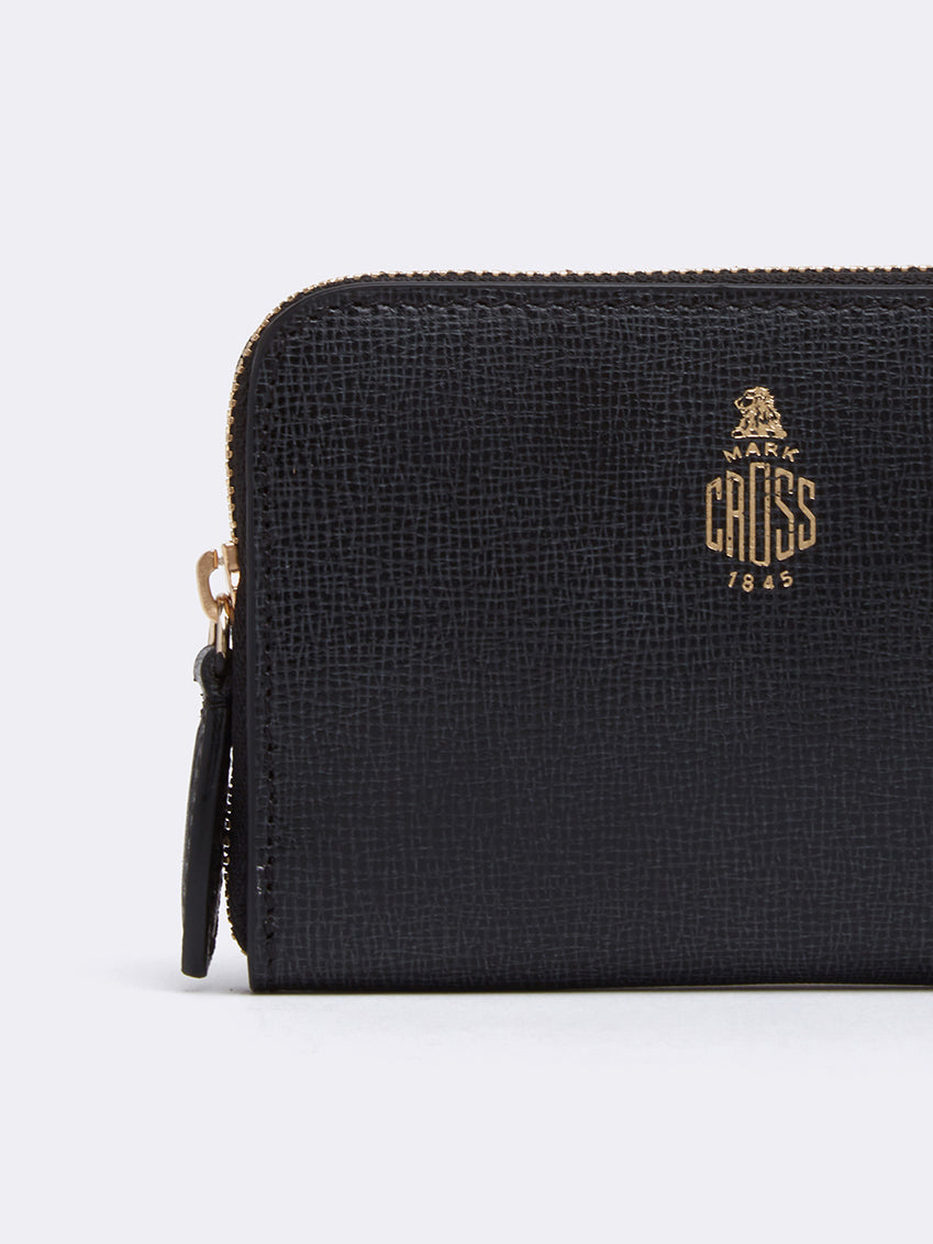 Mark Cross Zip Coin Pouch for Grace Belt Bag Mini Franzi Black Detail