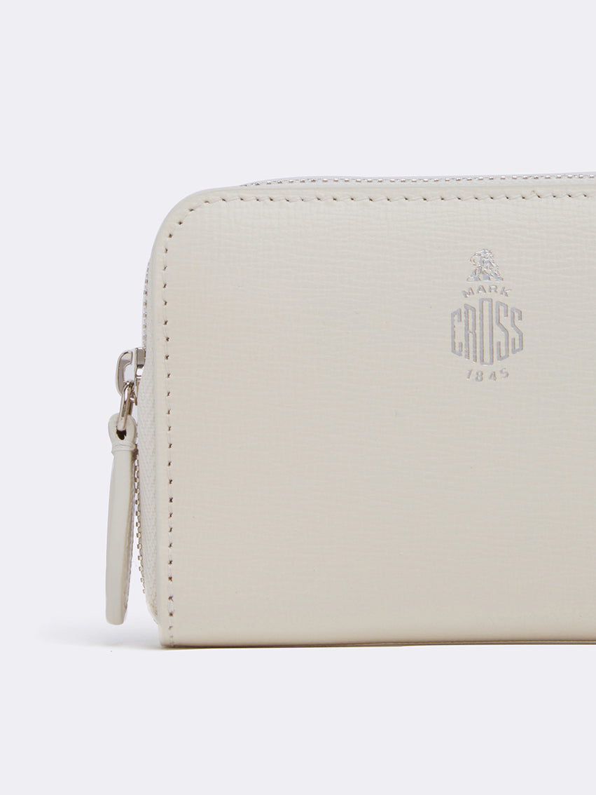 Mark Cross Zip Coin Pouch for Grace Belt Bag Mini Franzi White Detail
