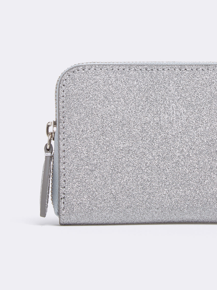 Mark Cross Zip Coin Pouch for Grace Belt Bag Luminous Glitter Silver Detail