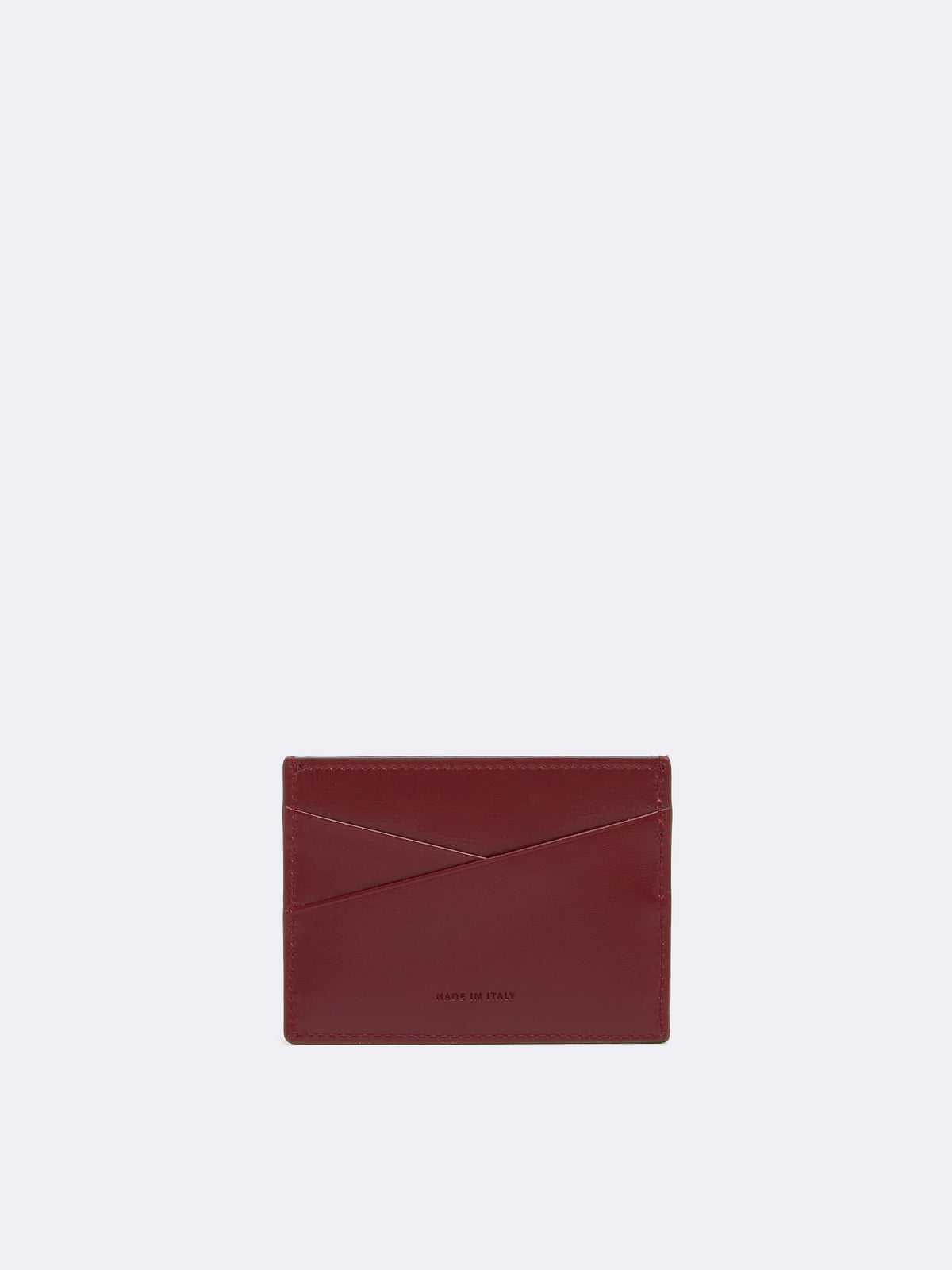 Mark Cross Leather Card Case Smooth Calf Burgundy Back