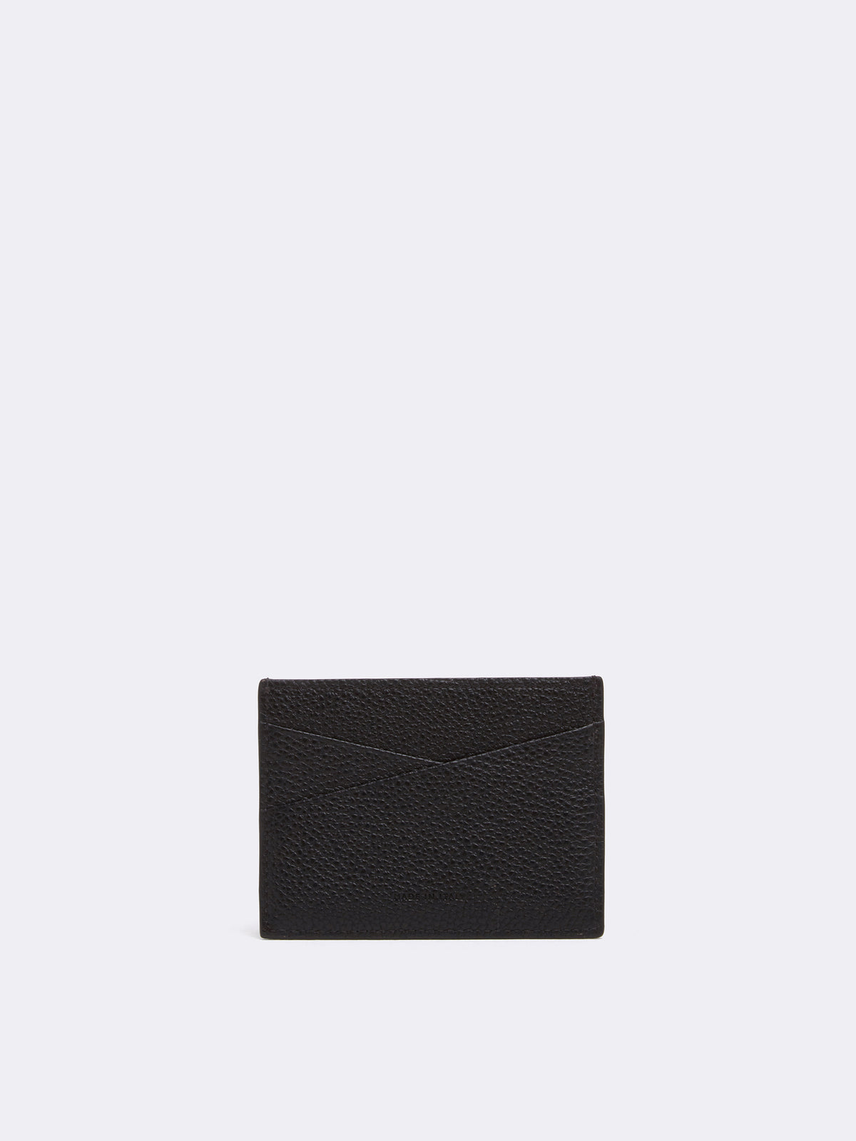 Mark Cross Leather Card Case Tumbled Grain Black Detail